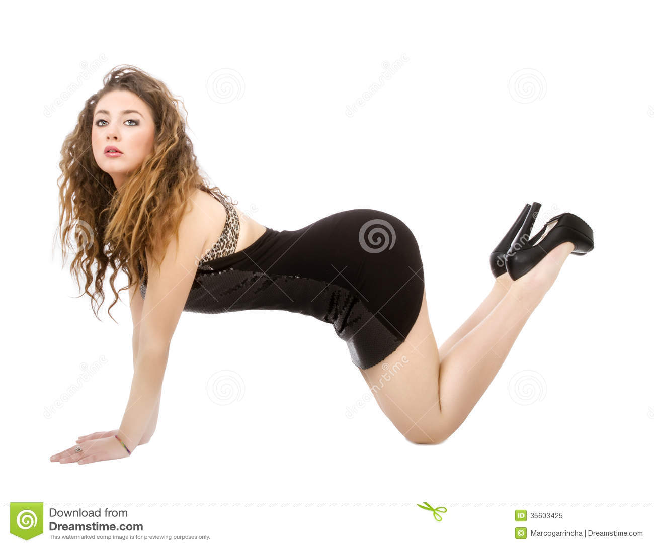woman doggy position stock image. image of portrait, model - 35603425