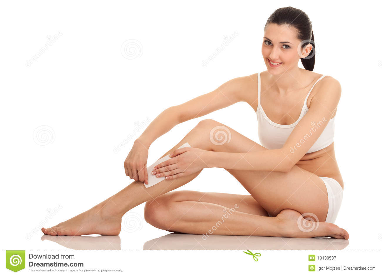 Woman doing depilation