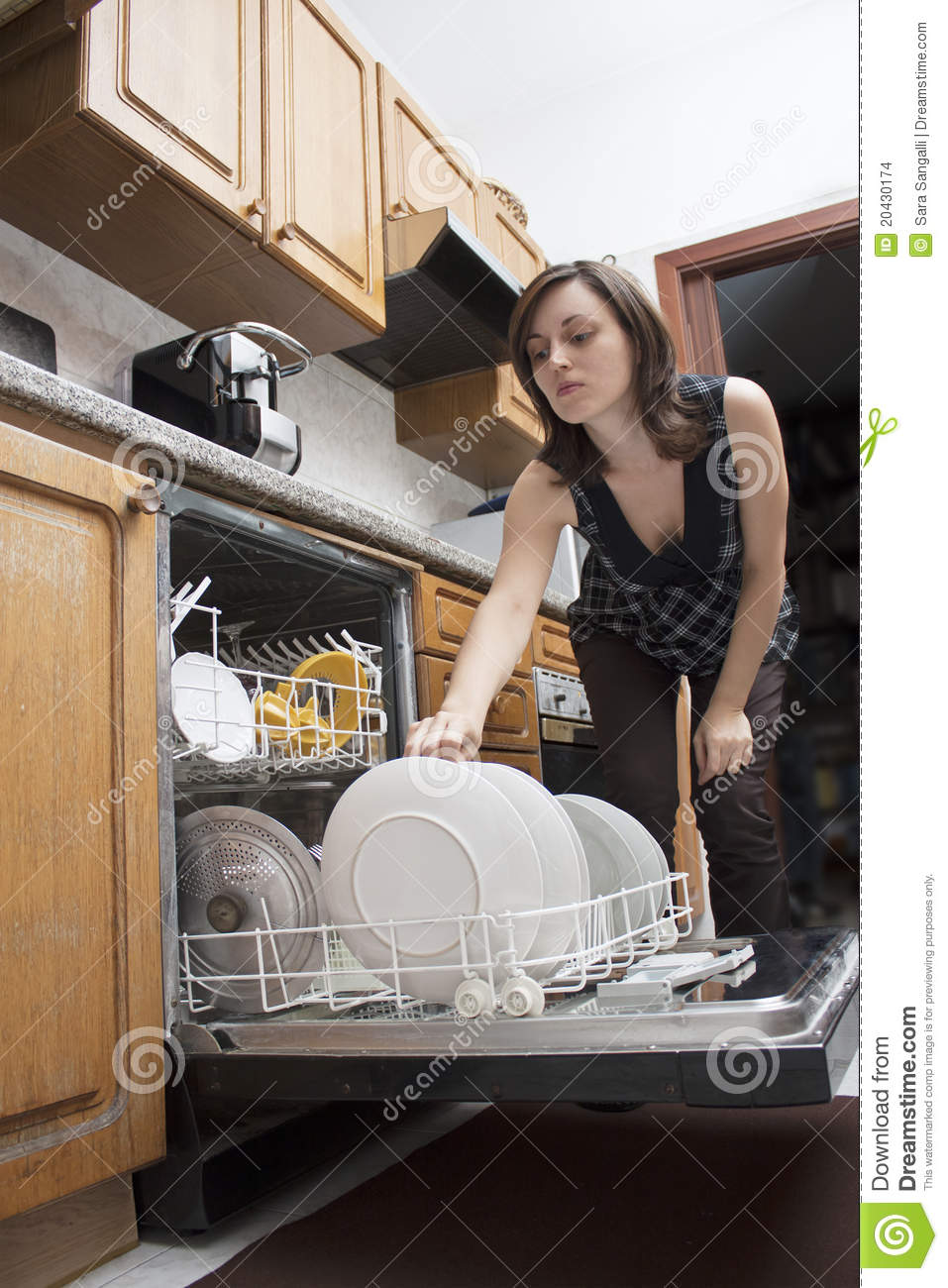 Woman Doing Dishes Stock Images Image 20430174