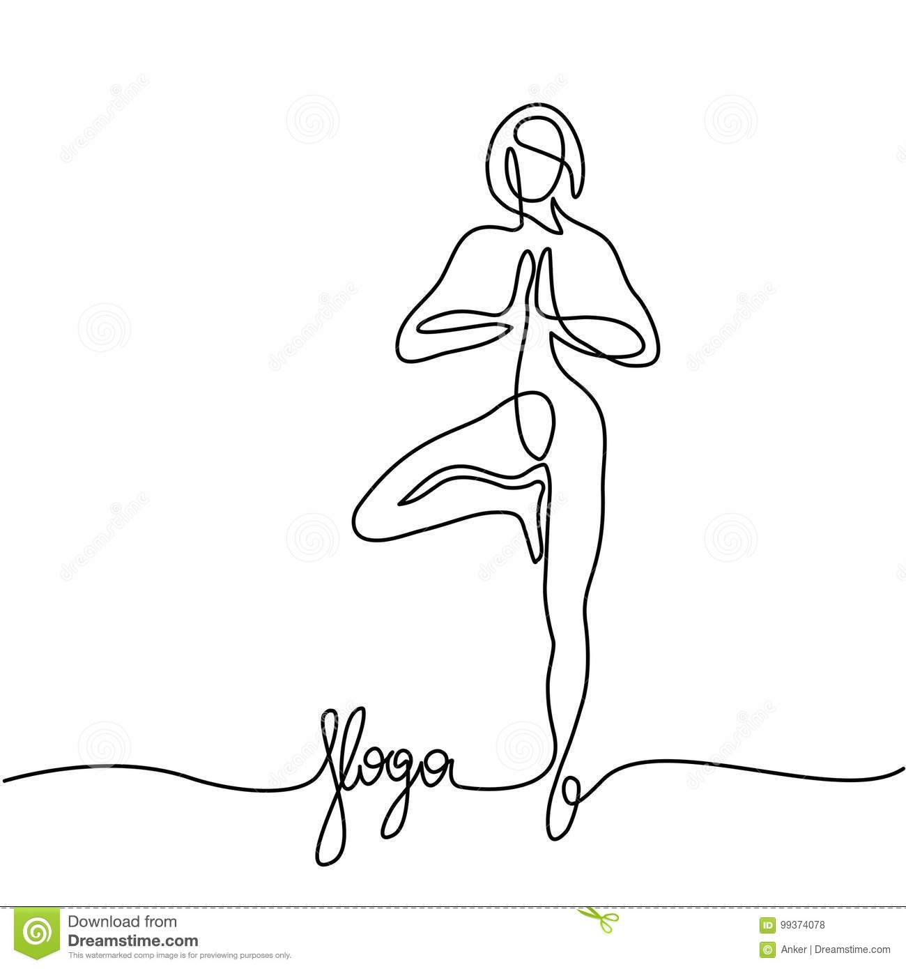 Yoga Line Drawing Woman Wiring Diagrams Opamp Diode Laser Driver Circuit Diagram Tradeoficcom Doing Exercise In Pose Stock Vector Illustration Of Rh Dreamstime Com Drawn Poses