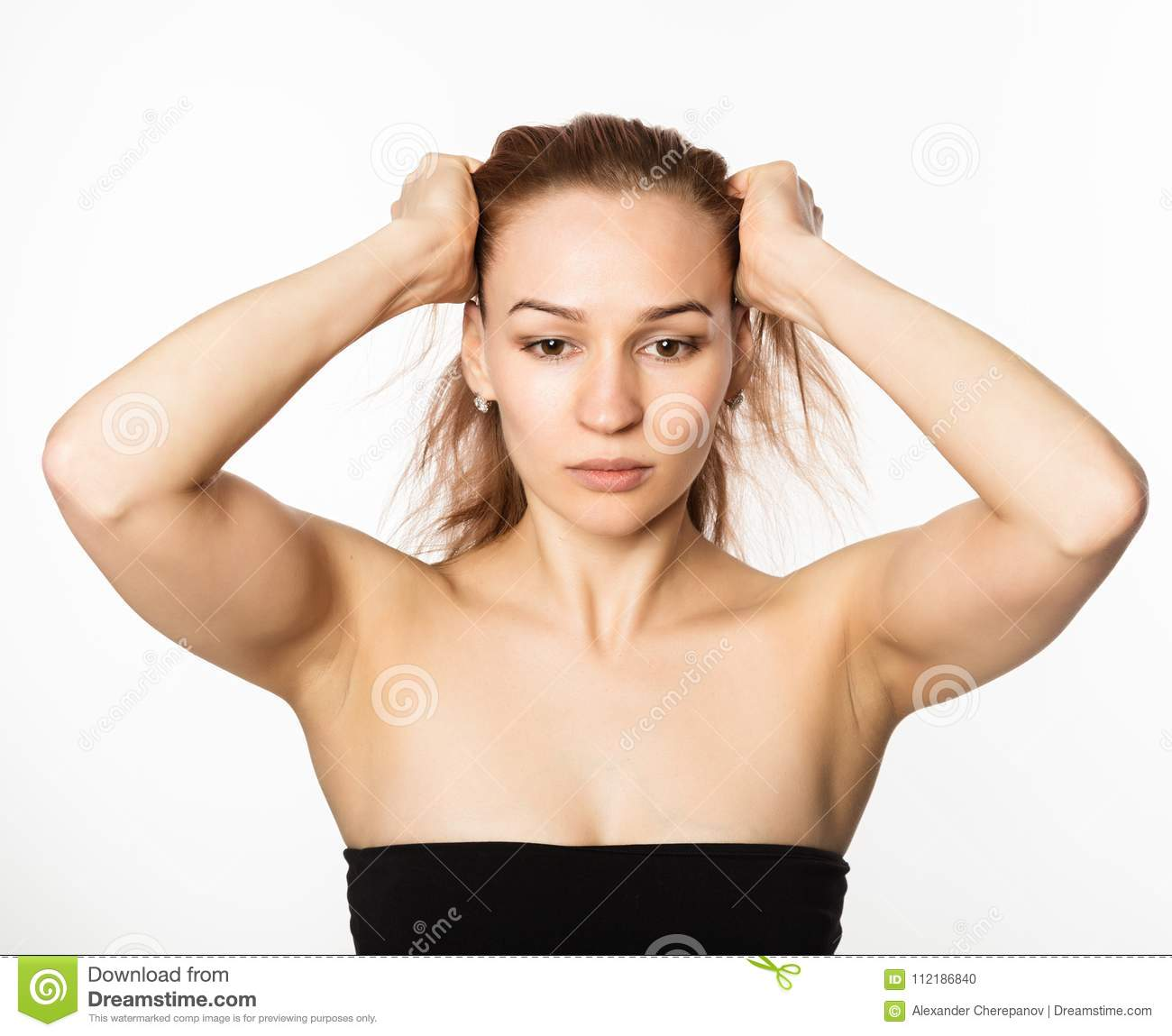 Woman Doing Face Fitness Aging Chang In The Muscles Of The Face