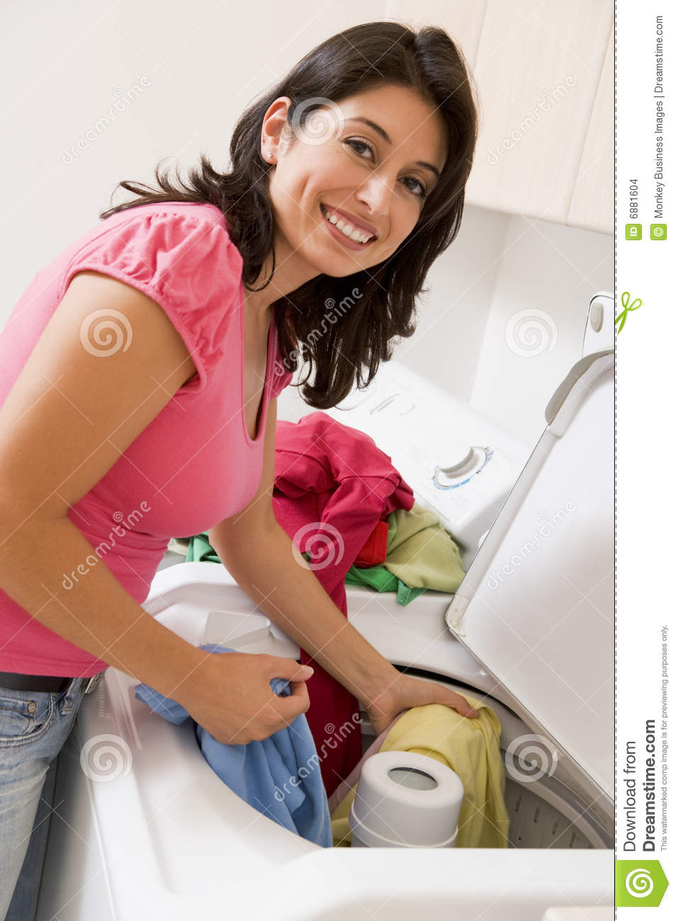 Woman Doing Laundry Stock Images - Image: 6881604