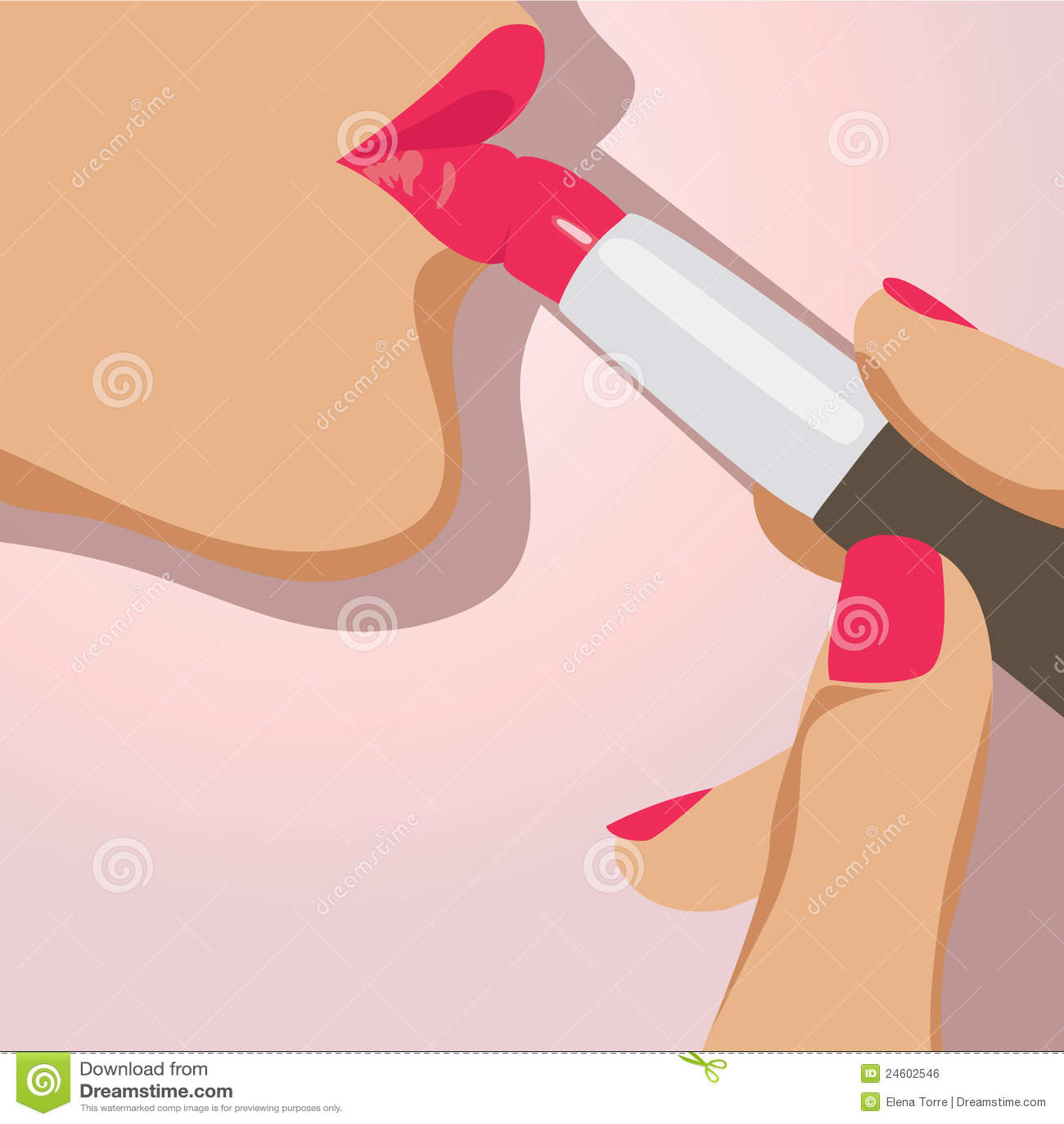 Woman doing makeup vector