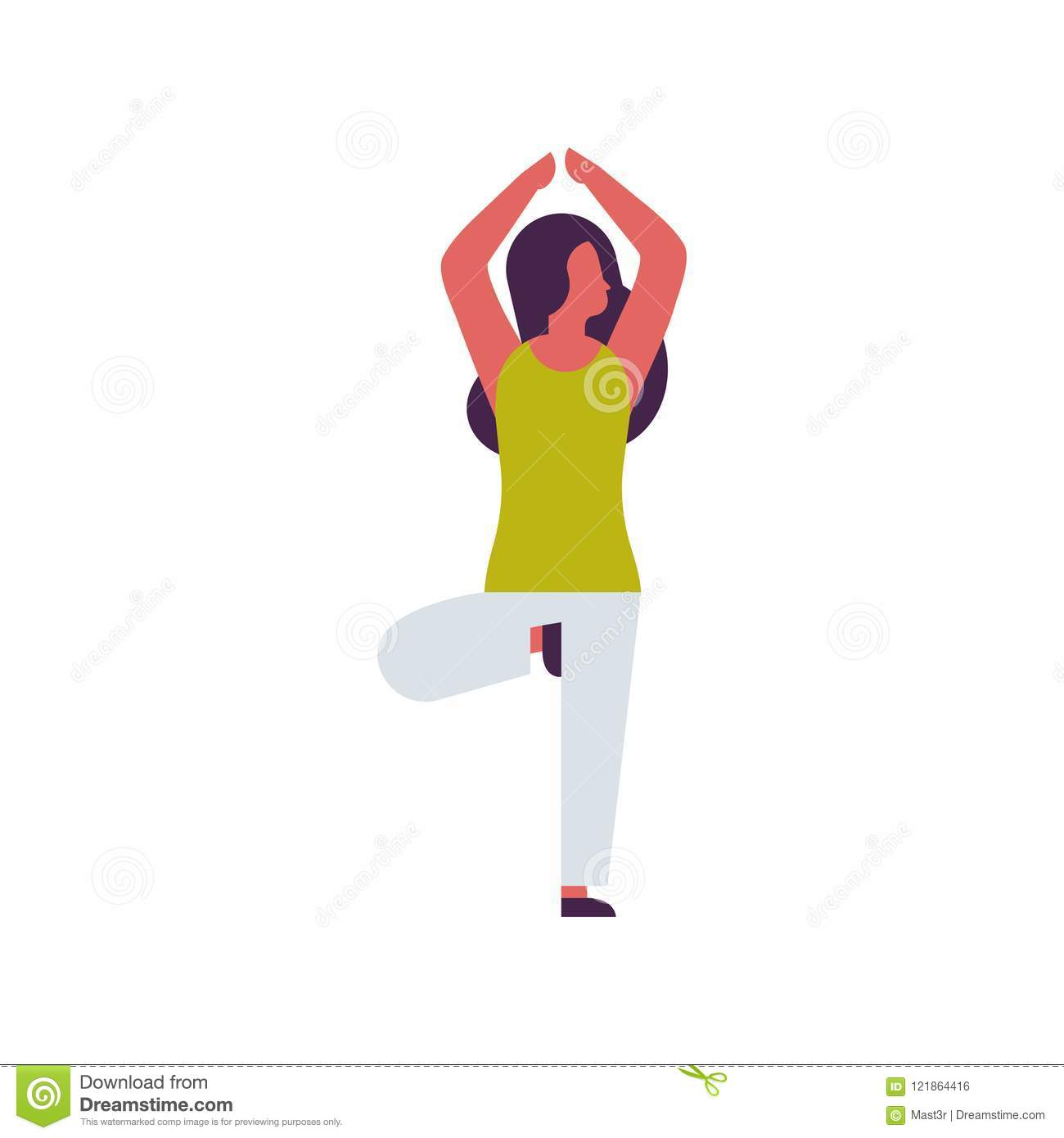 Woman Doing Yoga Exercises Female Cartoon Character Fitness Activities Isolated Diversity Poses Healthy Lifestyle Stock Vector Illustration Of Healthy Coach 121864416