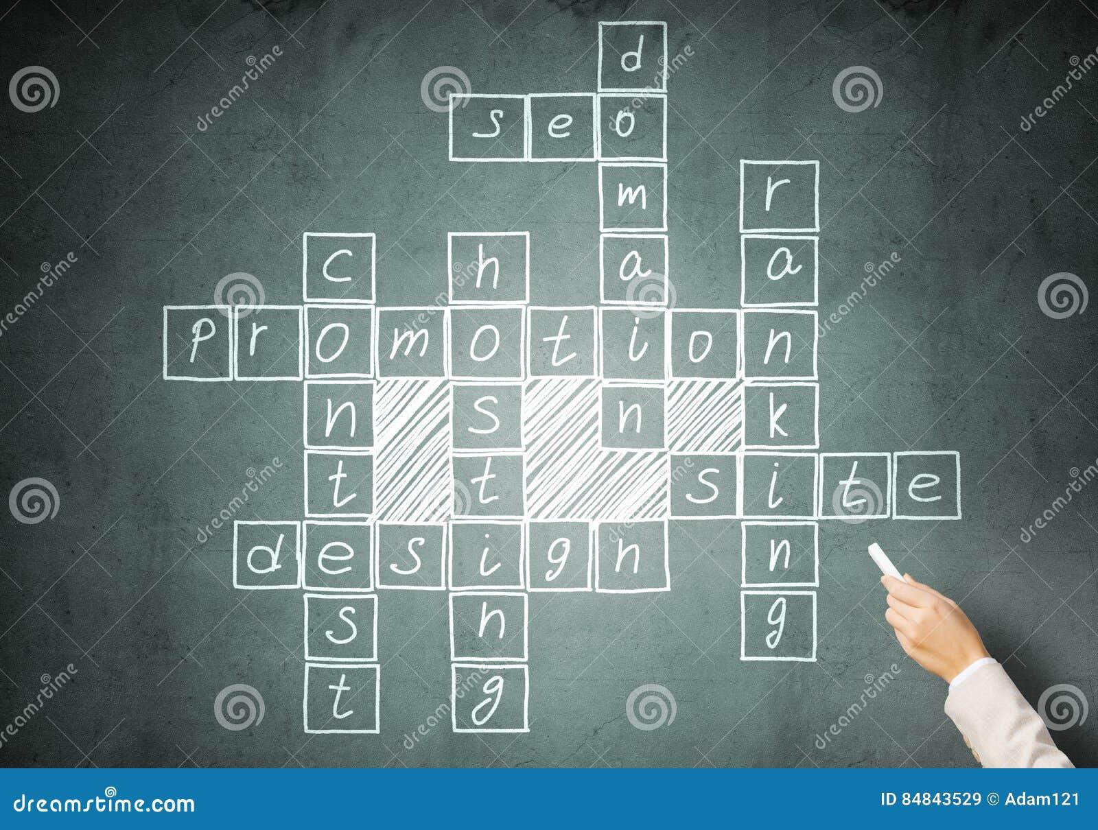 Scribble Drawing Crossword : Woman draw crossword stock photography cartoondealer