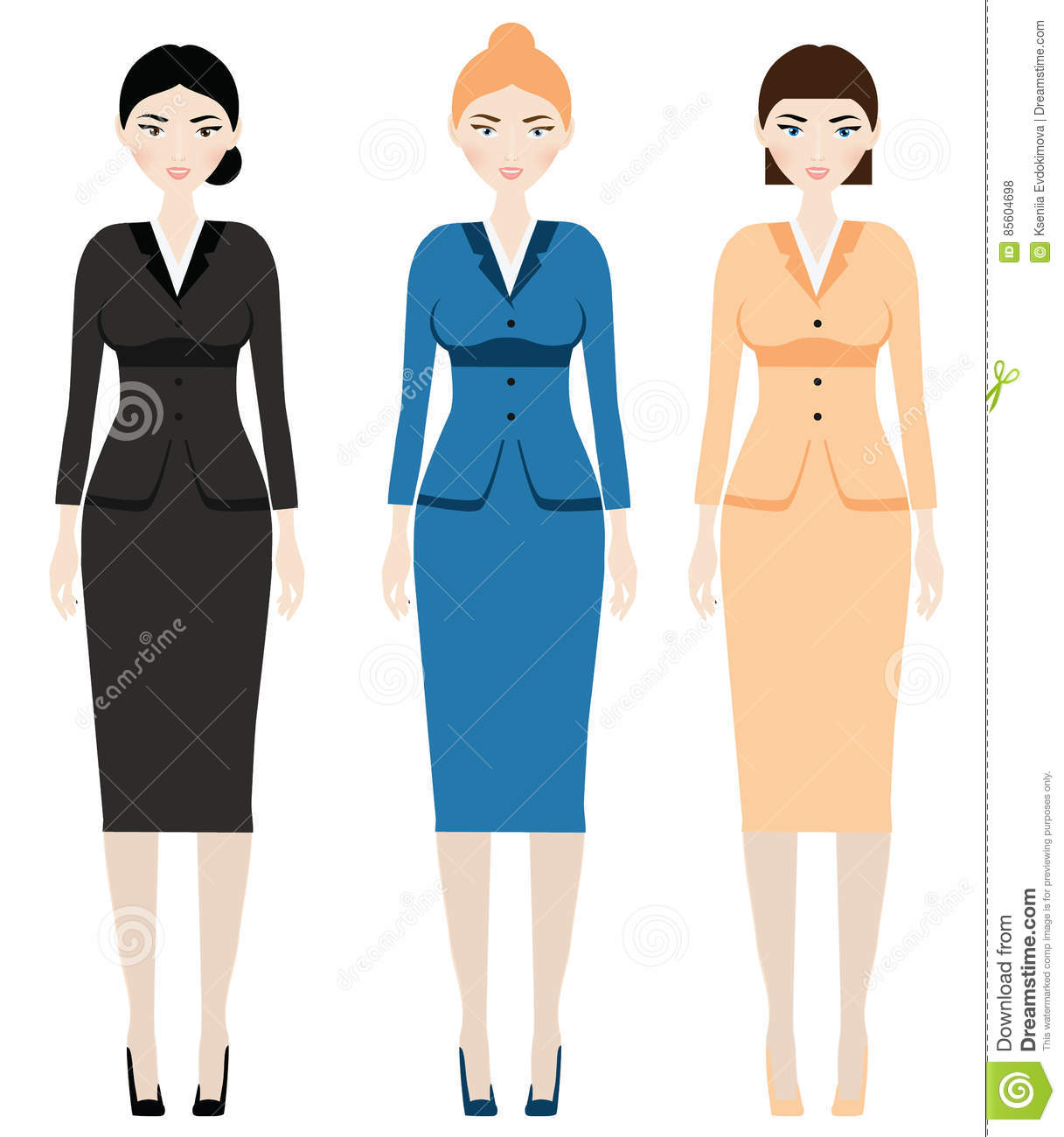 aad72ee938 Woman Dress Code. Female In Business Outfit
