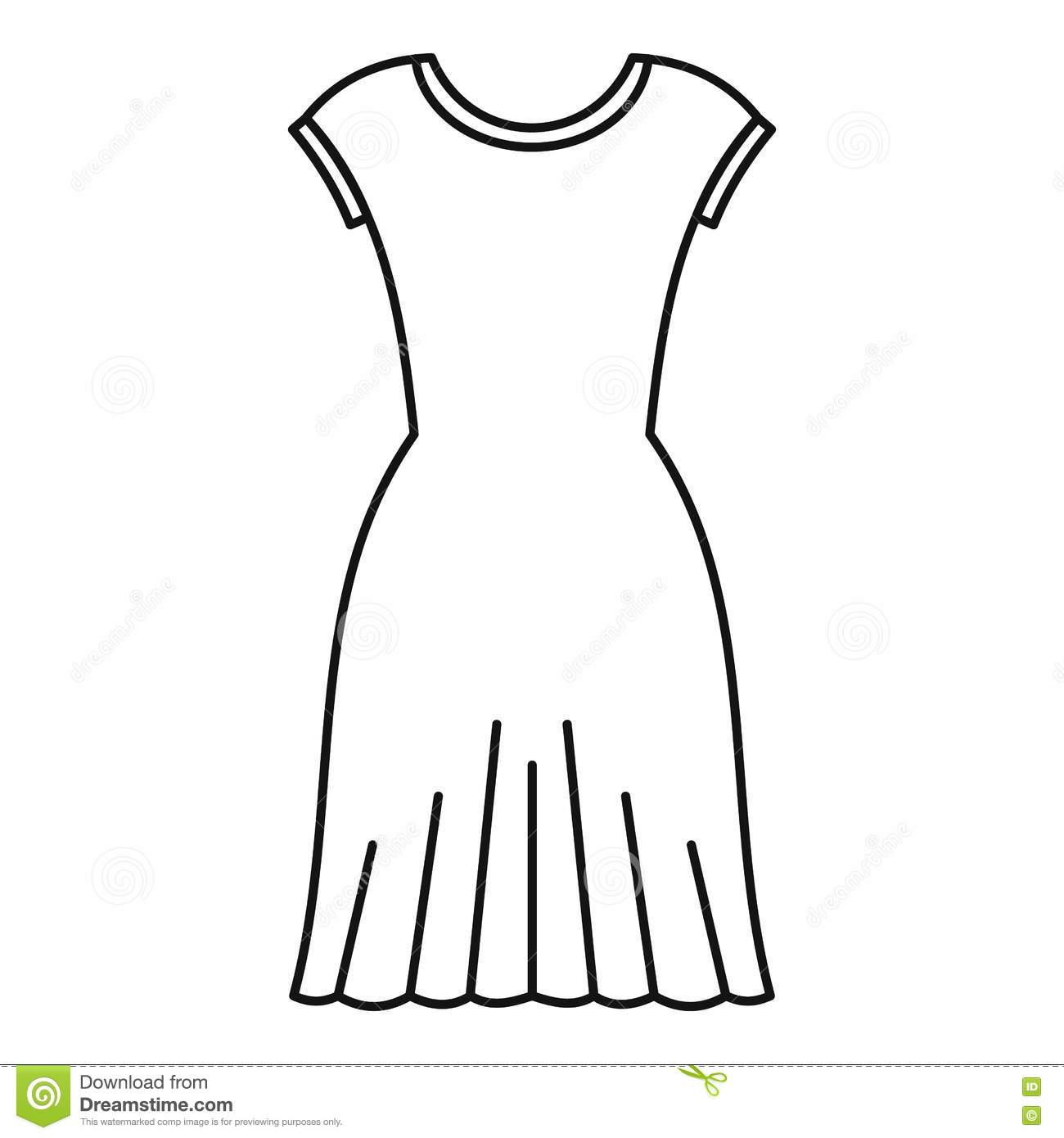 Creative Outline Of A Woman In A Dress Wedding Dresses Archives  Coloring
