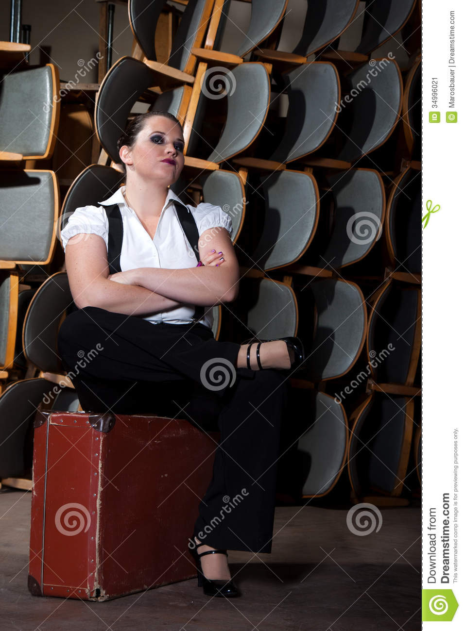 Woman Dressed As A Man Stock Image Image 34996021