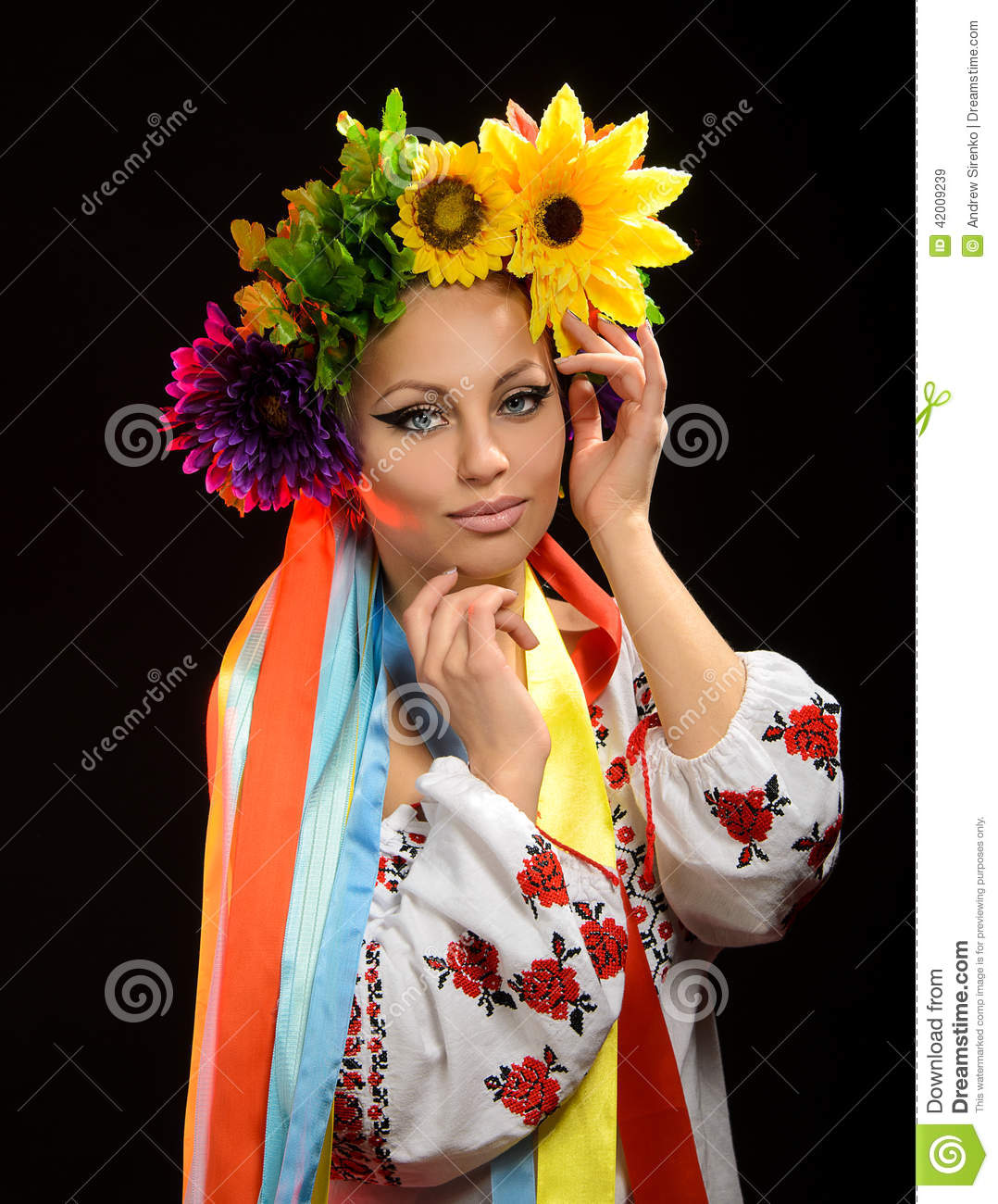 Woman dressed in ukrainian national costume stock photo image royalty free stock photo dhlflorist Gallery