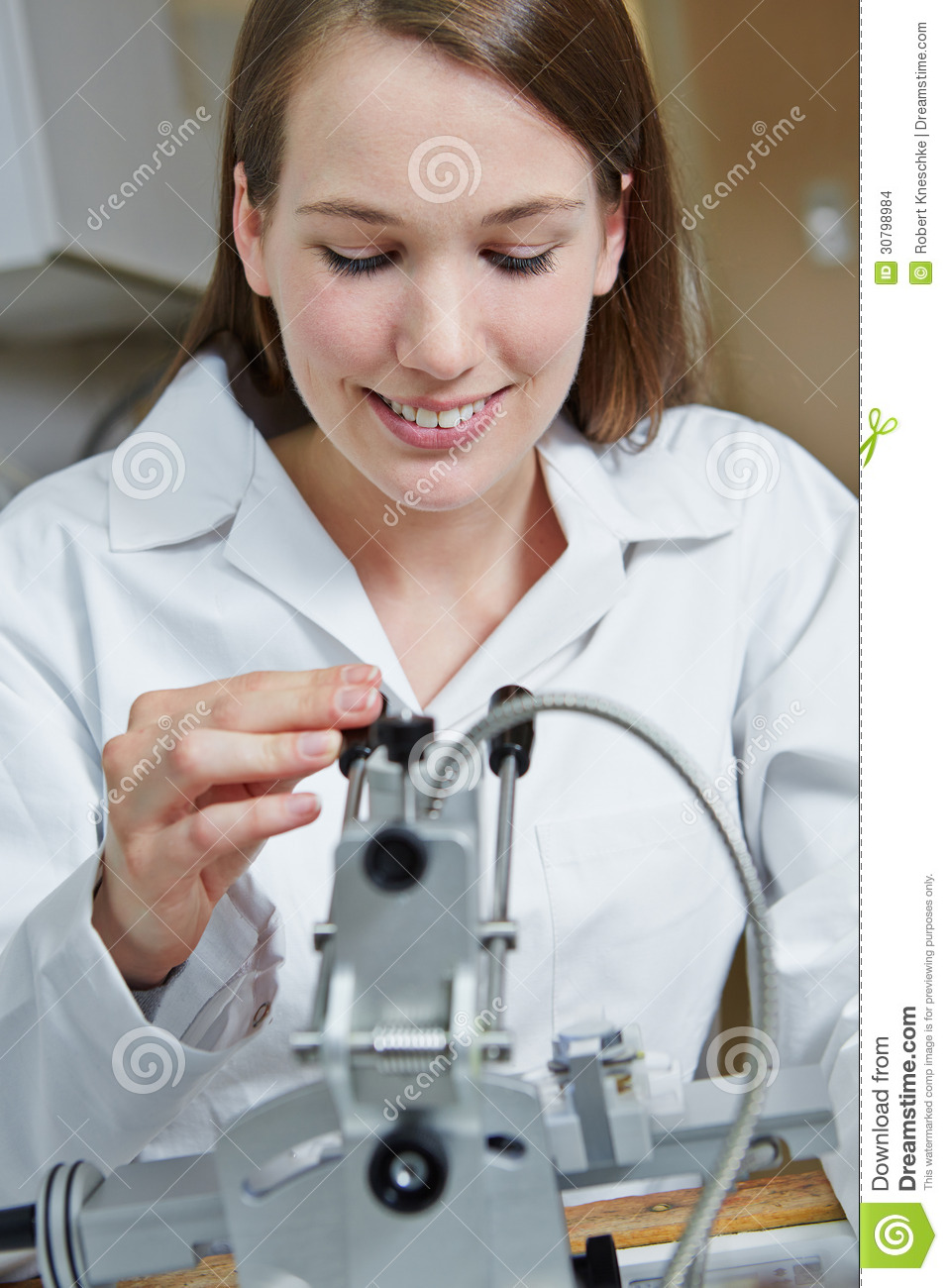 Rimless Glasses Young : Woman At Drilling Machine Stock Images - Image: 30798984