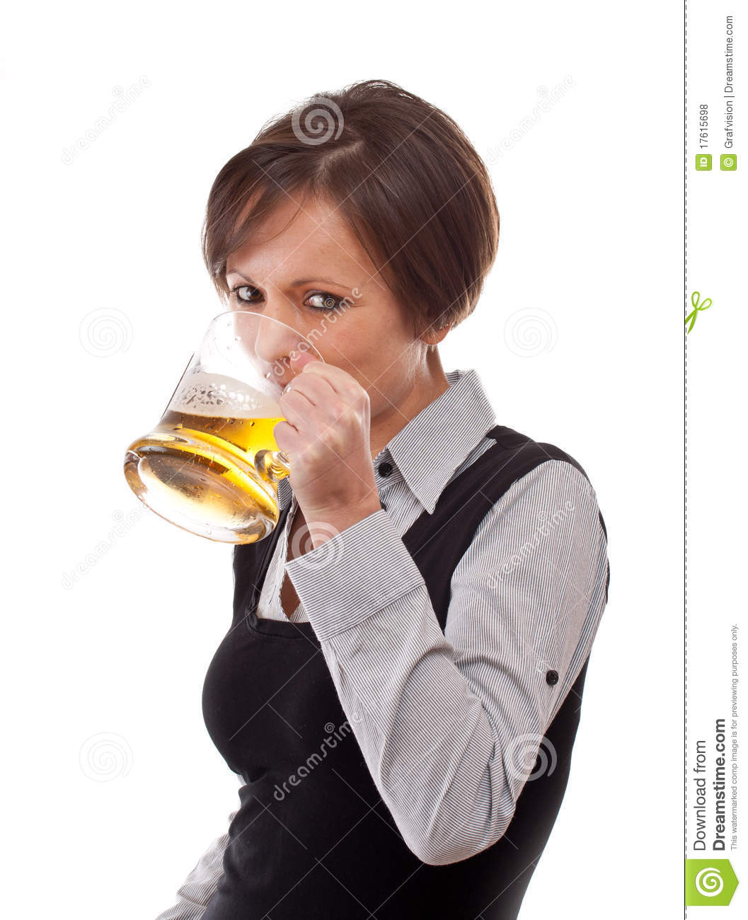 Woman Drinking Beer Royalty Free Stock Photos - Image ...