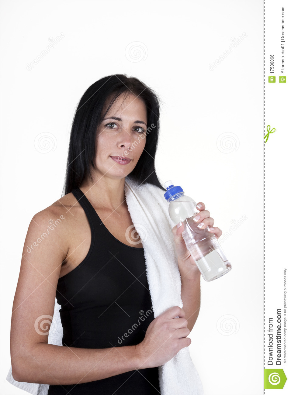 woman drinking bottled water royalty free stock image