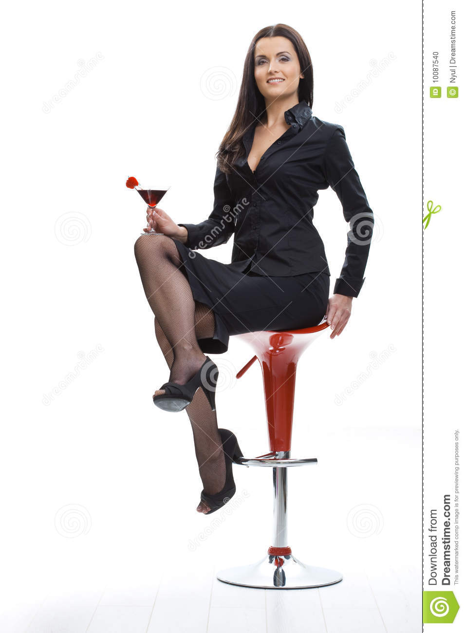 Woman Drinking Cocktail Stock Photo Image 10087540