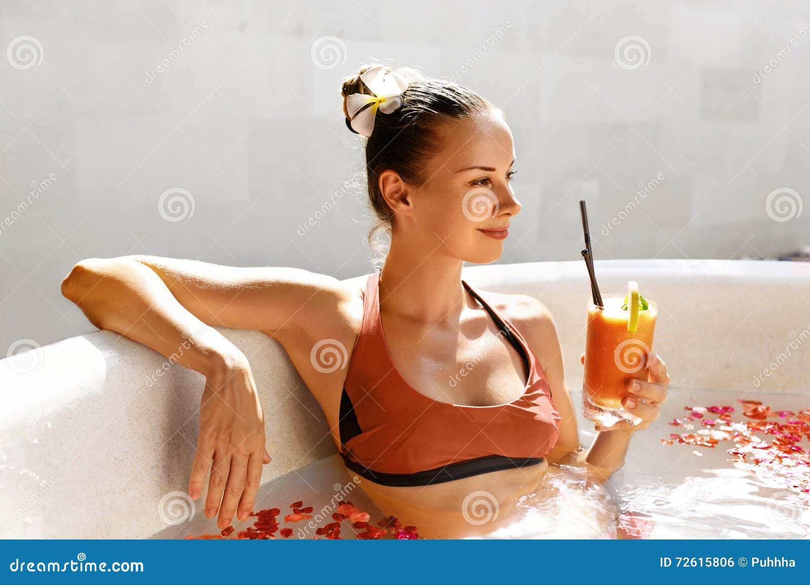 56a237b74b445 Beautiful Happy Smiling Woman Drinking Fresh Detox Juice Cocktail