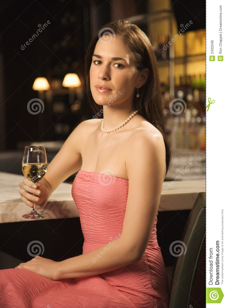 Woman Drinking Wine Royalty Free Stock Photos Image