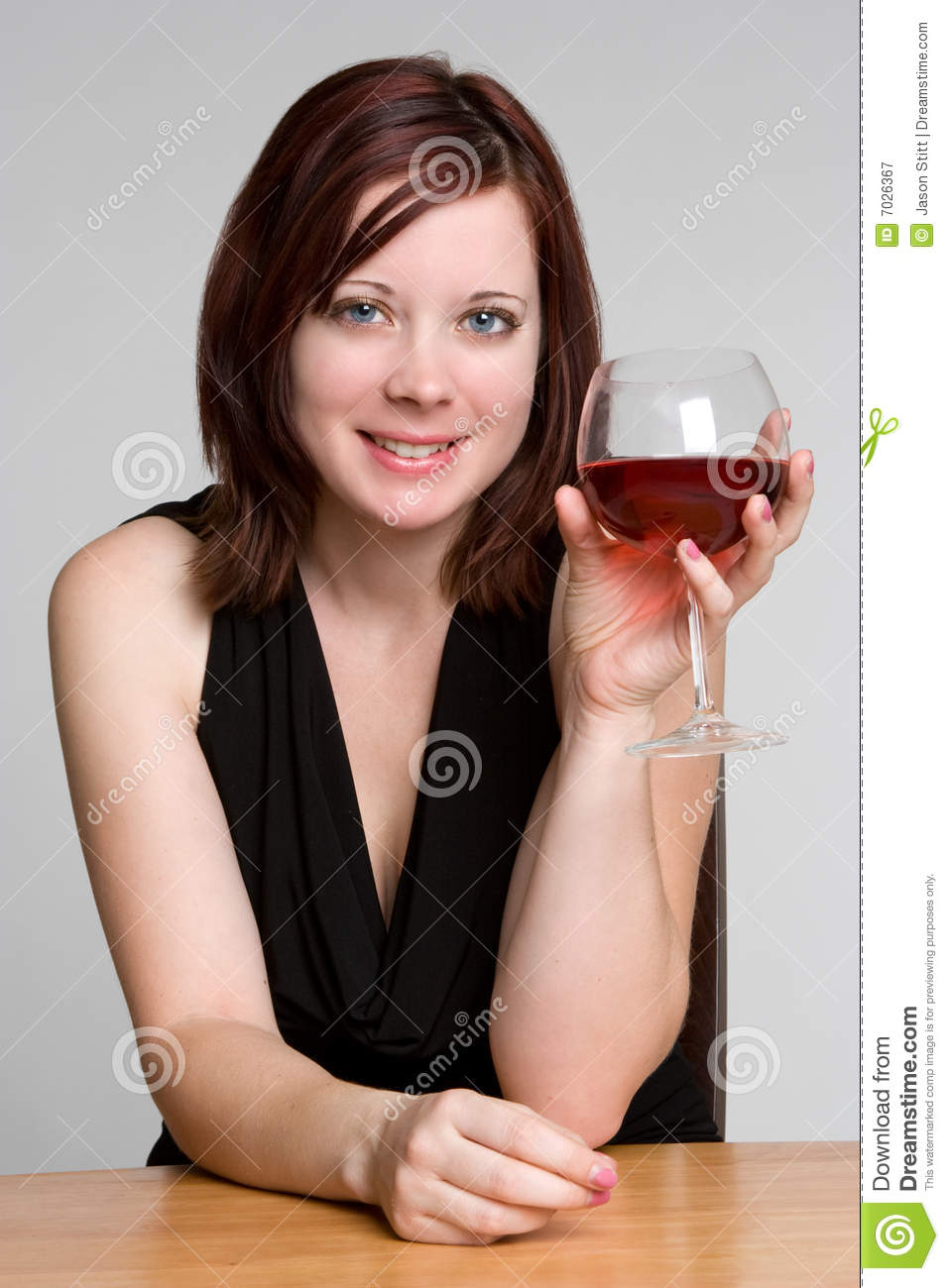 Woman Drinking Wine Royalty Free Stock Photography - Image ...