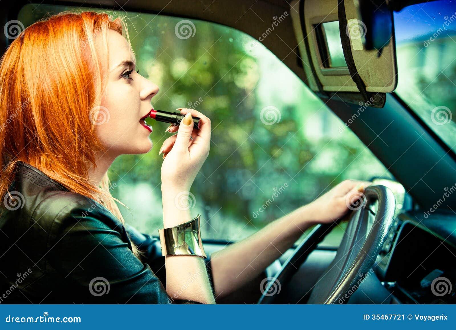 Lipstick Painting Car