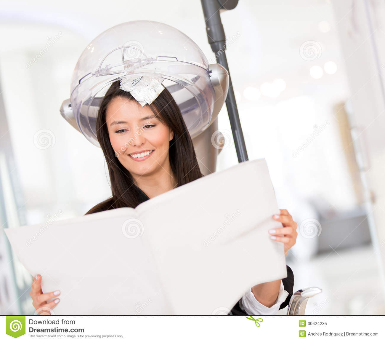 Woman dying her hair royalty free stock photo image for Reading beauty salon