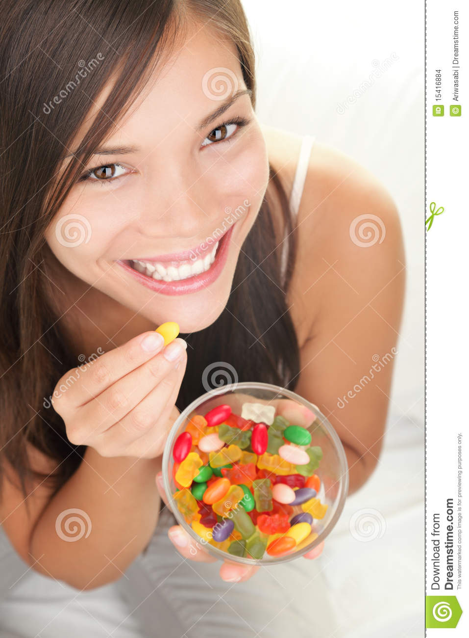 Woman Eating Candy Editorial Stock Image Image Of Face