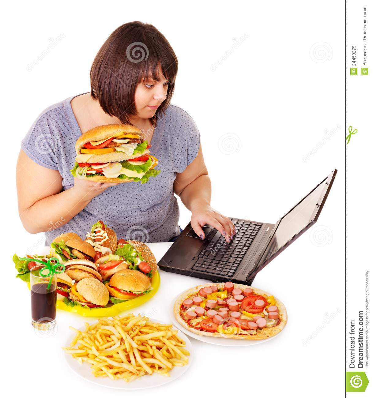 Woman Eating Junk Food  Stock Image  Image Of Meal