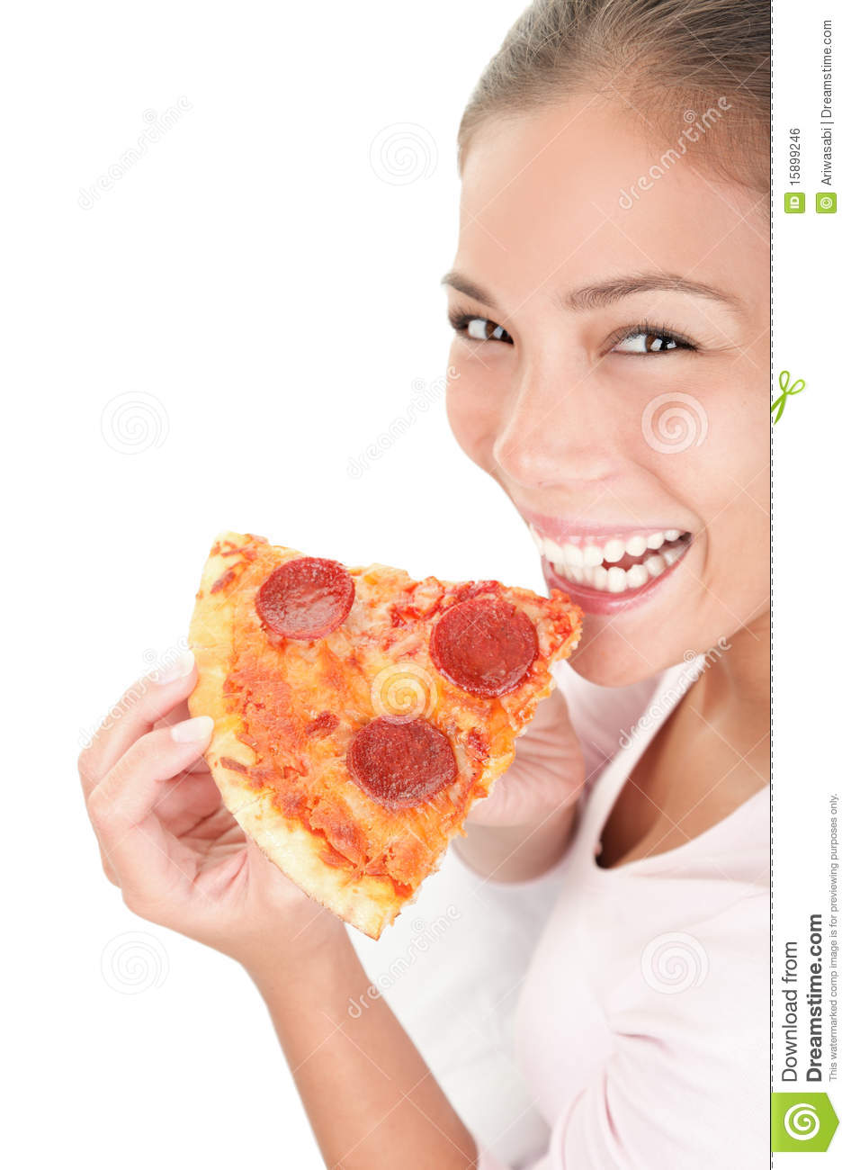 woman eating pizza stock photo image of funny adult. Black Bedroom Furniture Sets. Home Design Ideas