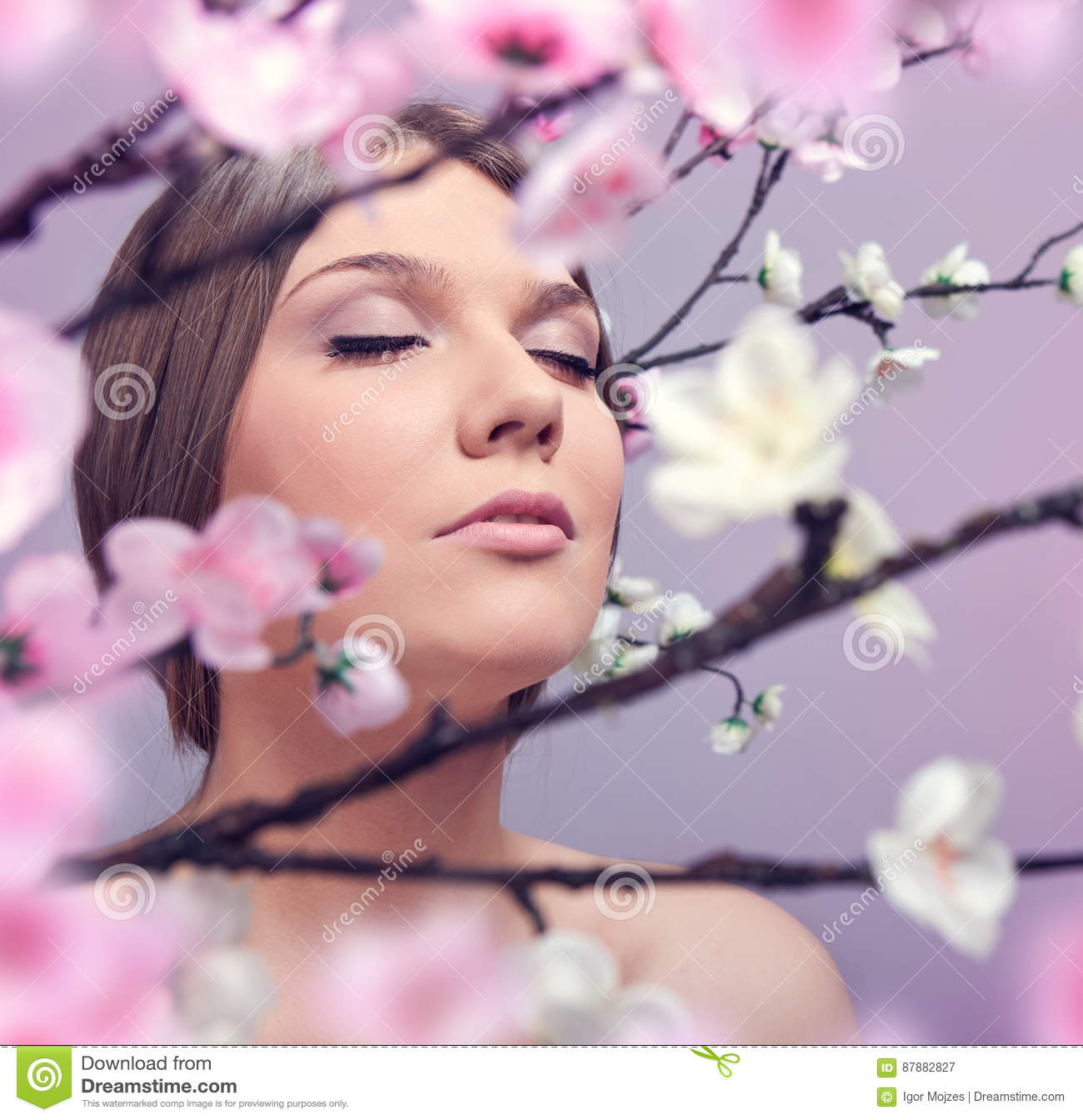 Woman enjoying in spring