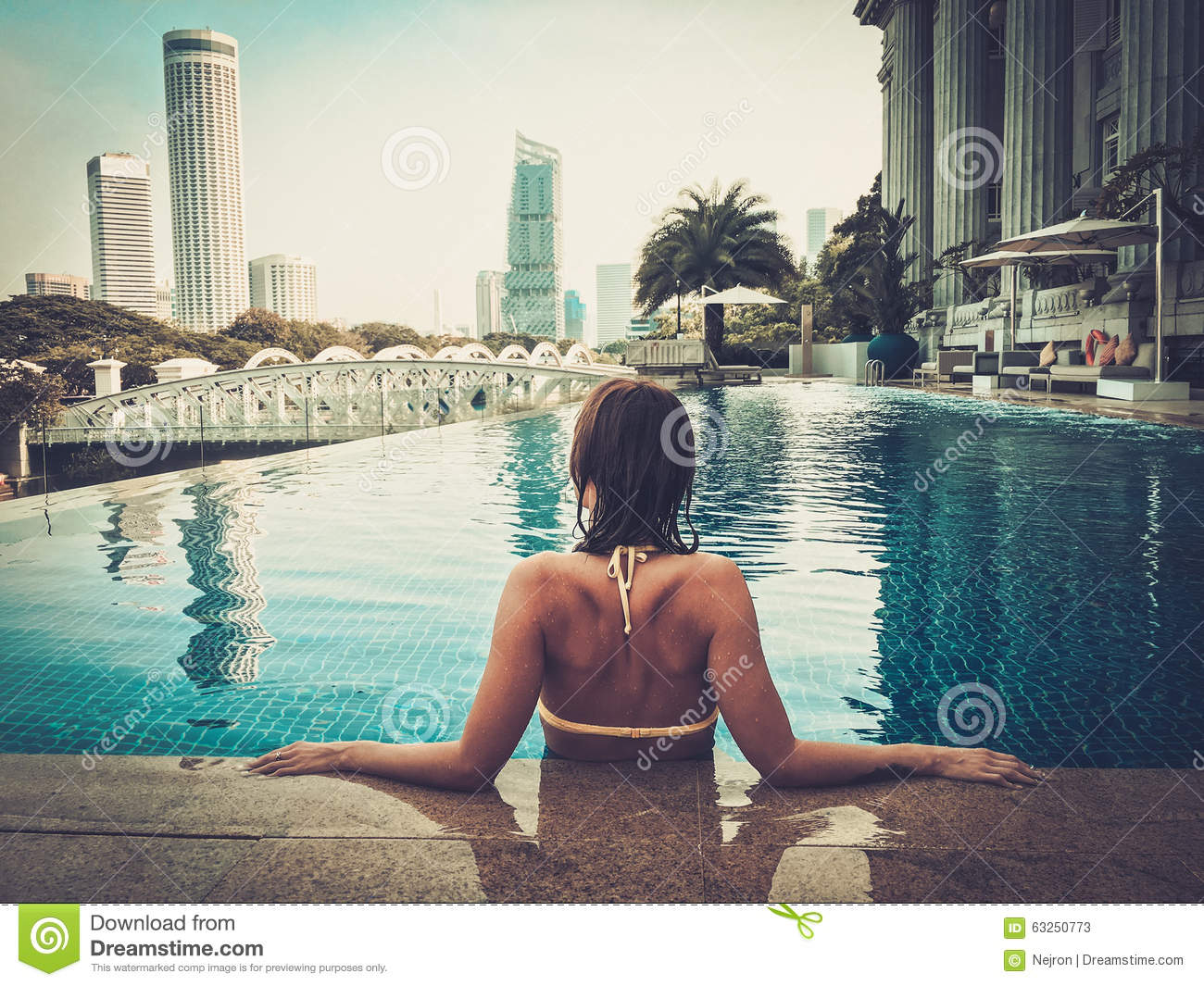 Woman enjoying a swim stock image image of bathing body 63250773 for Houston swimming pool high rise
