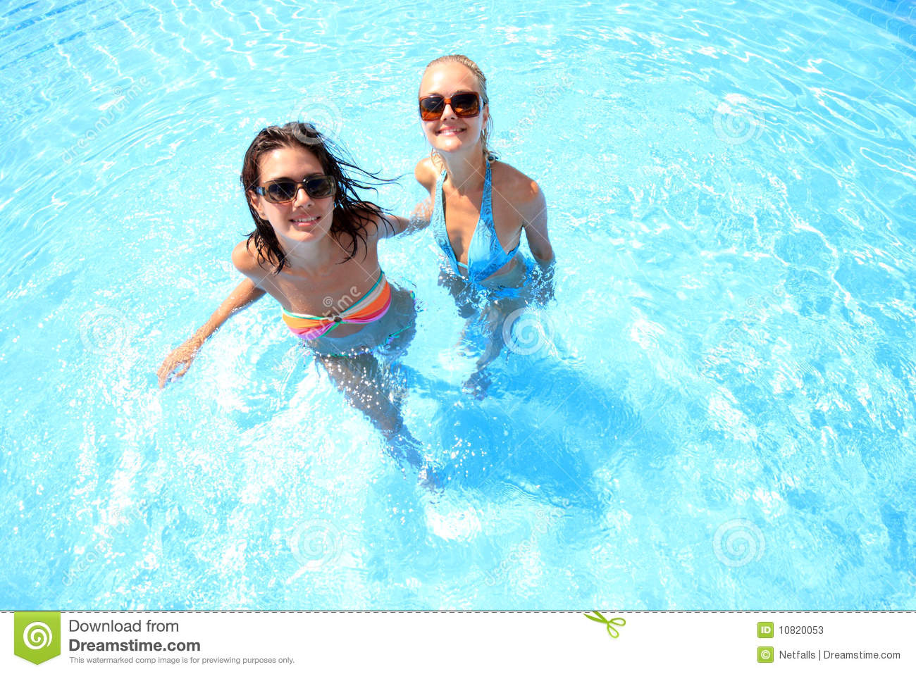 Woman Enjoying A Swimming Pool Stock Photos Image 10820053