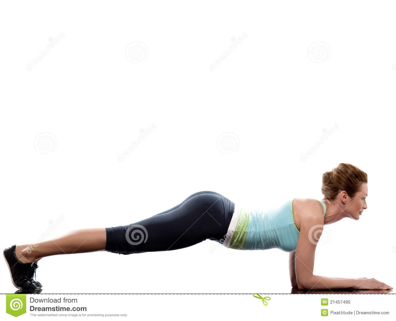 woman exercising abdominals workout push ups stock photo image 21457490. Black Bedroom Furniture Sets. Home Design Ideas
