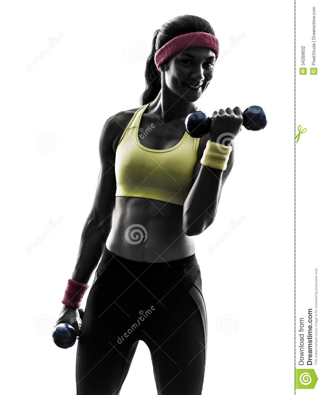 Workout Photography: Woman Exercising Fitness Workout Weight Training