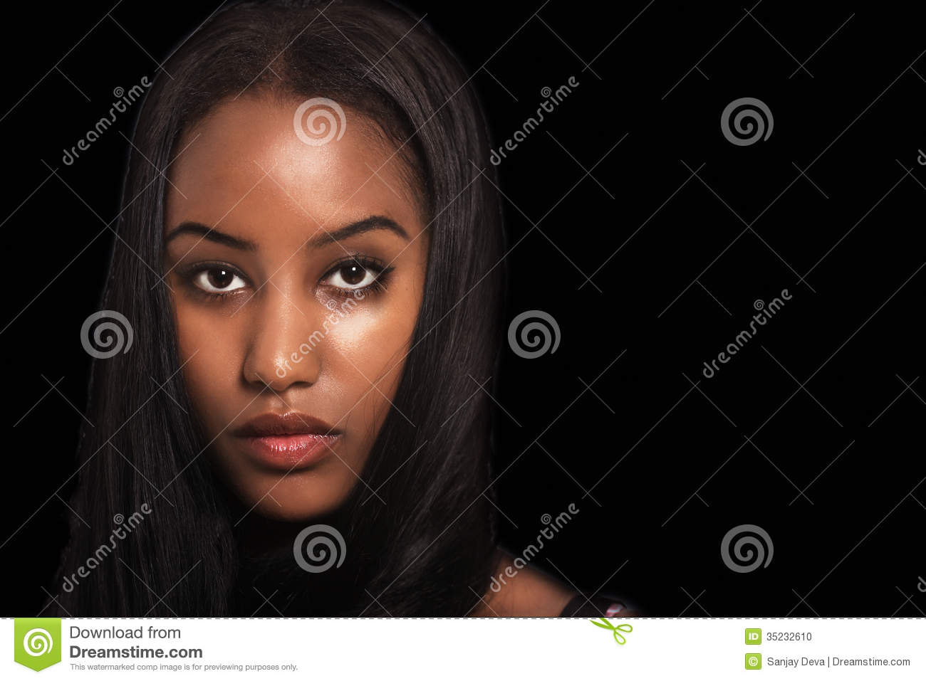 Woman Expression Stock Photo