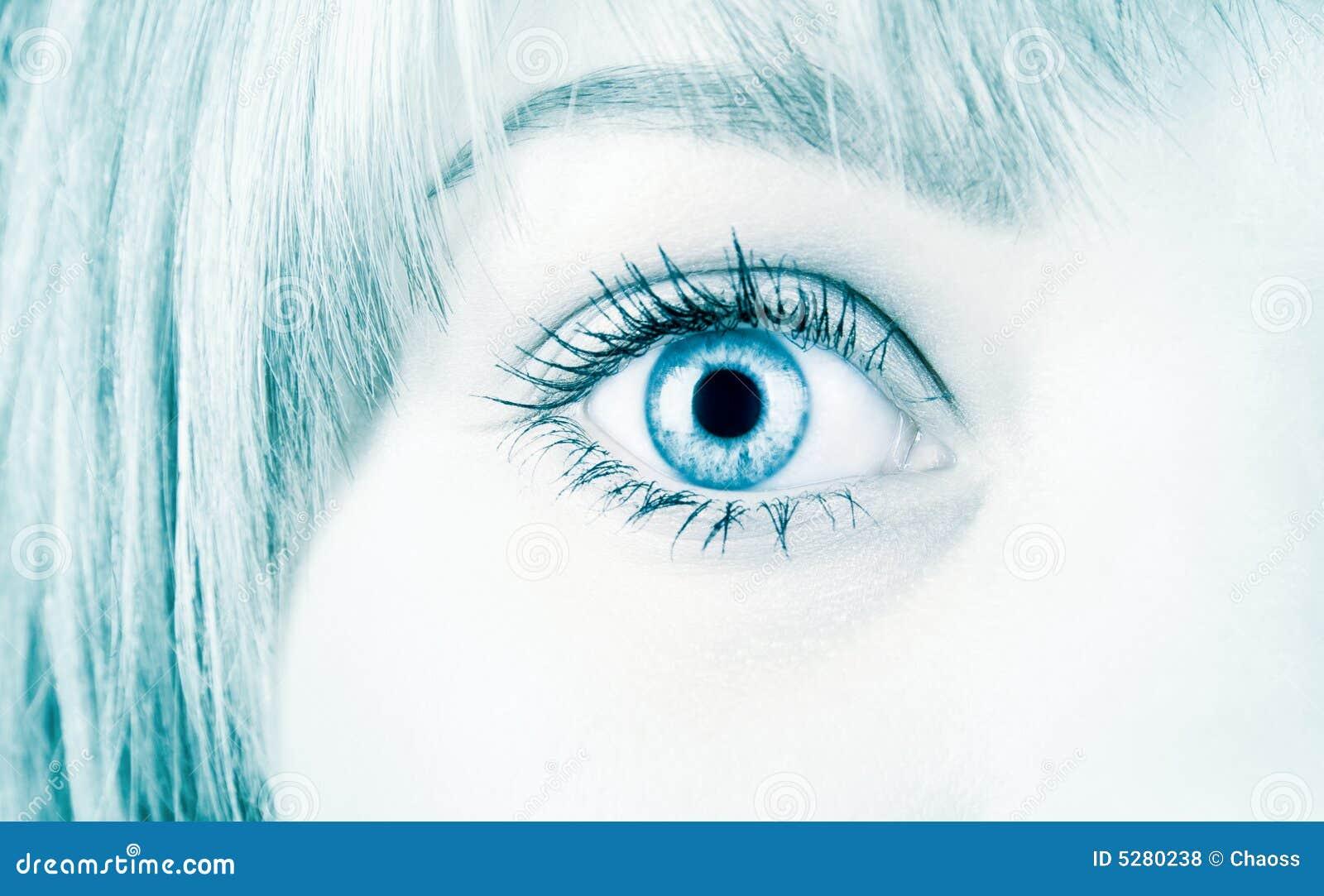 Woman Eye In Hi Tech Style Royalty Free Stock Photos