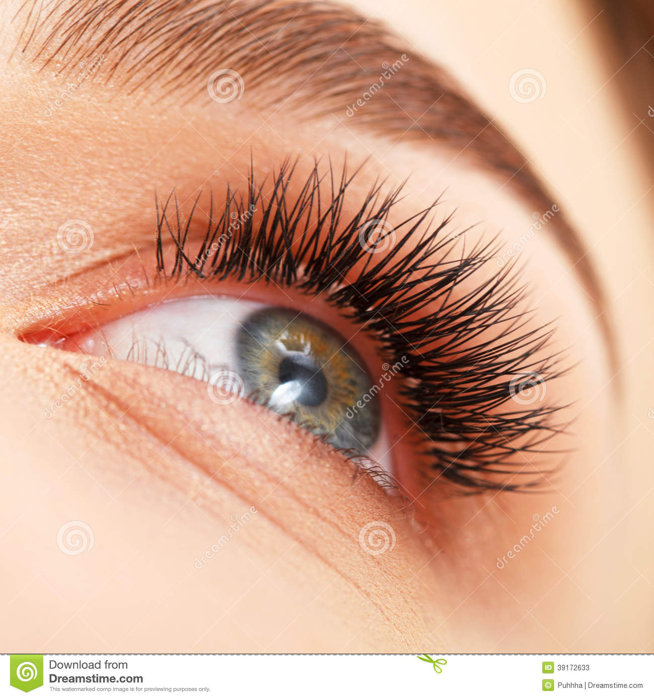 Download Woman Eye With Long Eyelashes. Eyelash Extension Stock Image - Image of eyelash, cosmetics: 39172633