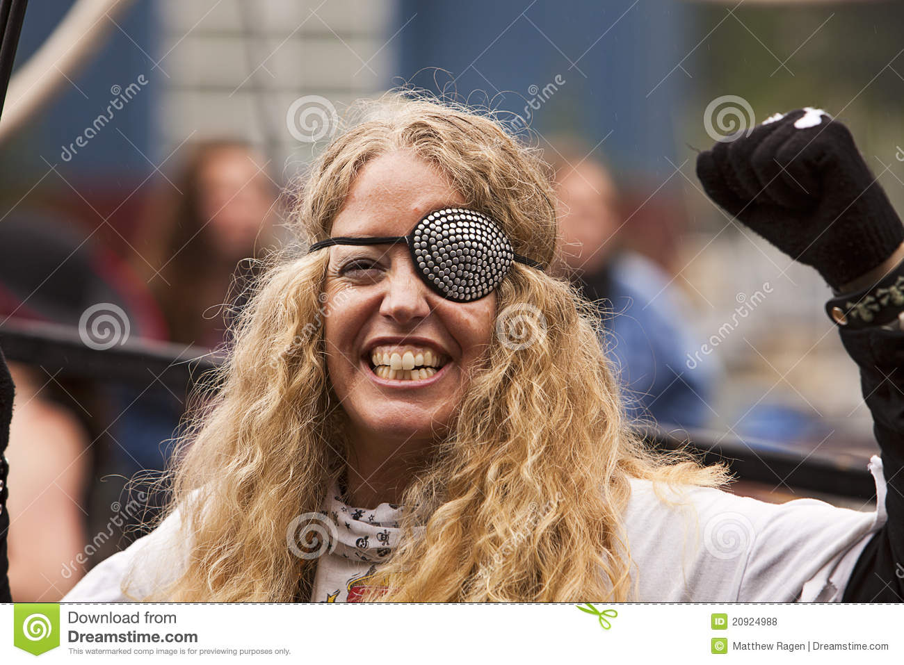 Woman With Eyepatch Editorial Stock Photo Image 20924988