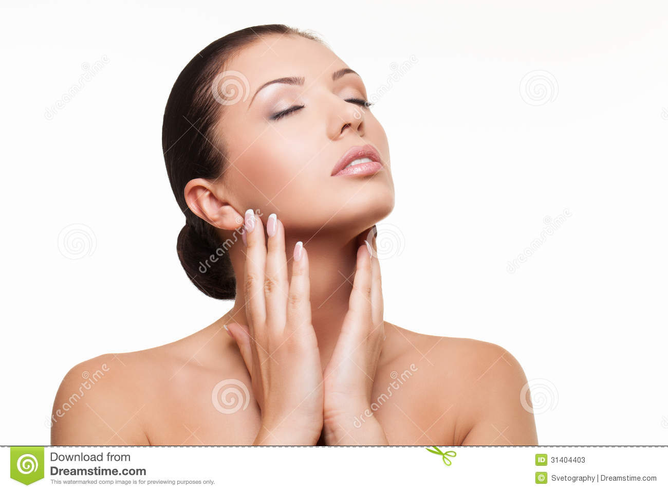 Woman With Eyes Closed Stock Photos - Image: 31404403