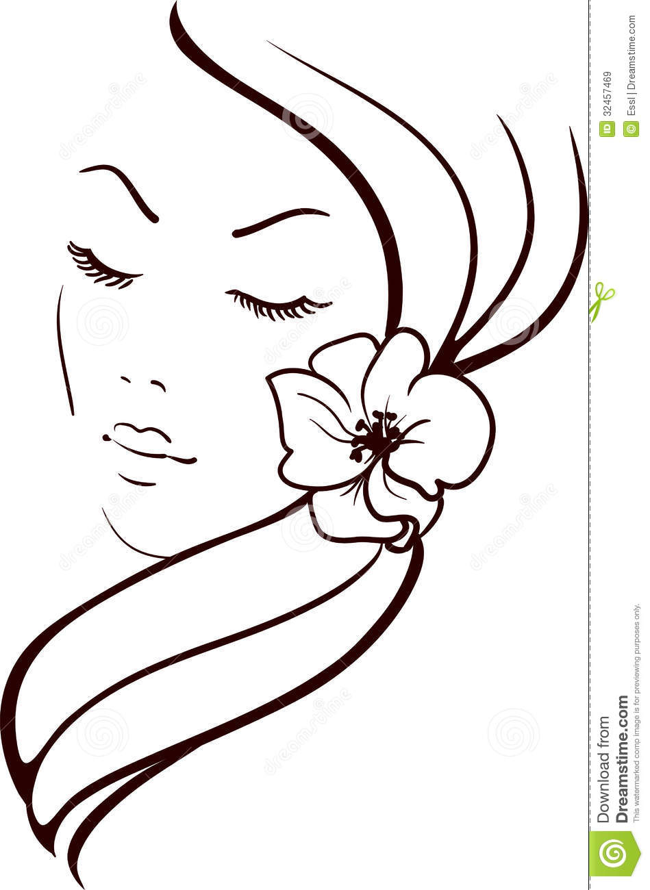 Woman Face Stock Vector Image Of Drawing Fashion Illustration - Girl hairstyle vector free download