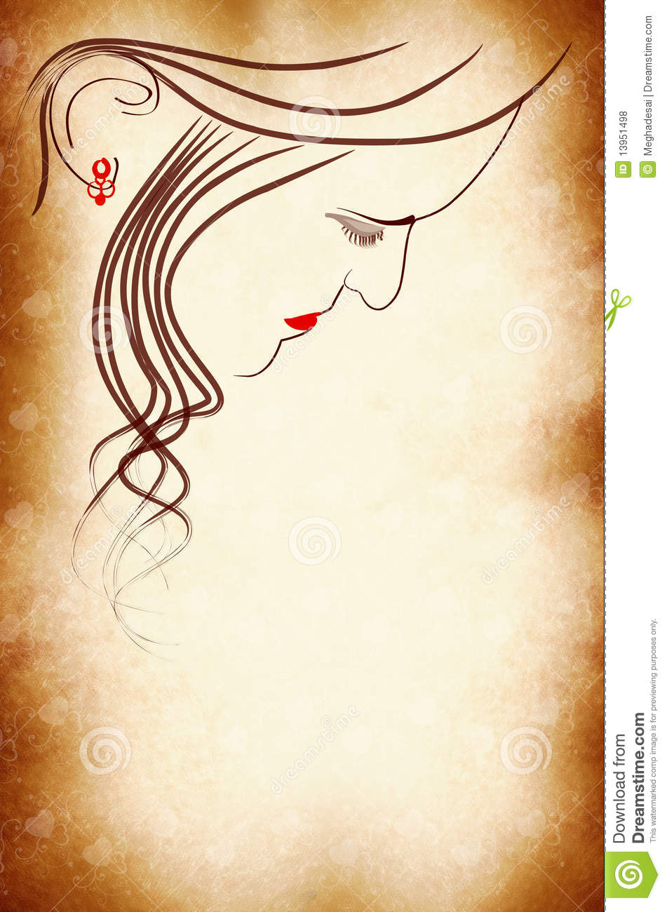 Woman Face Cover Page Royalty Free Stock Photos Image