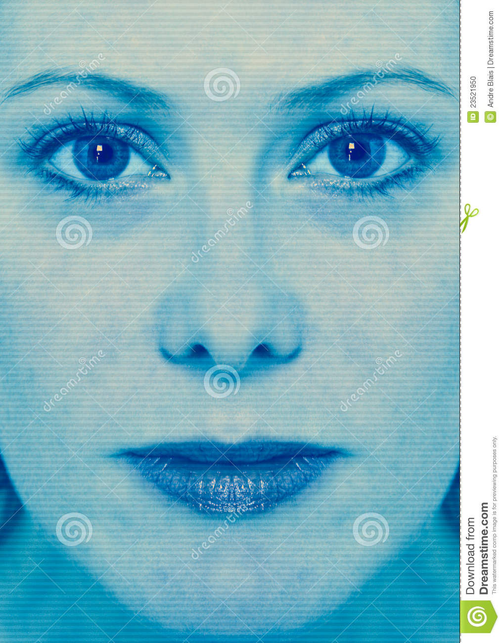 Workers On Wheels >> Woman Face Scan Stock Photo - Image: 23521950