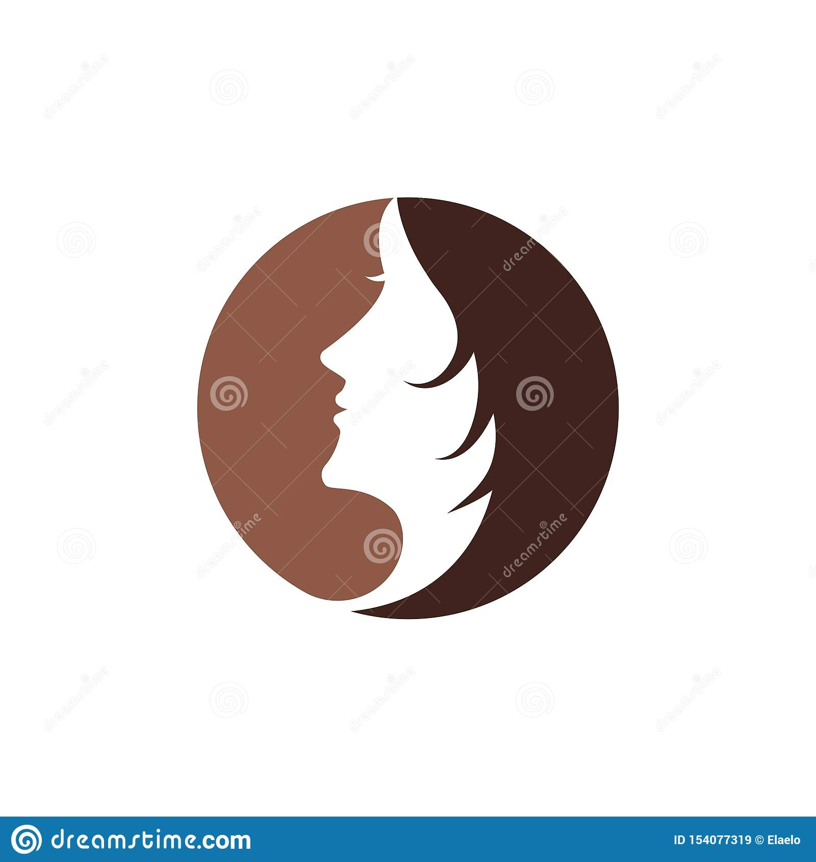 Woman face silhouette