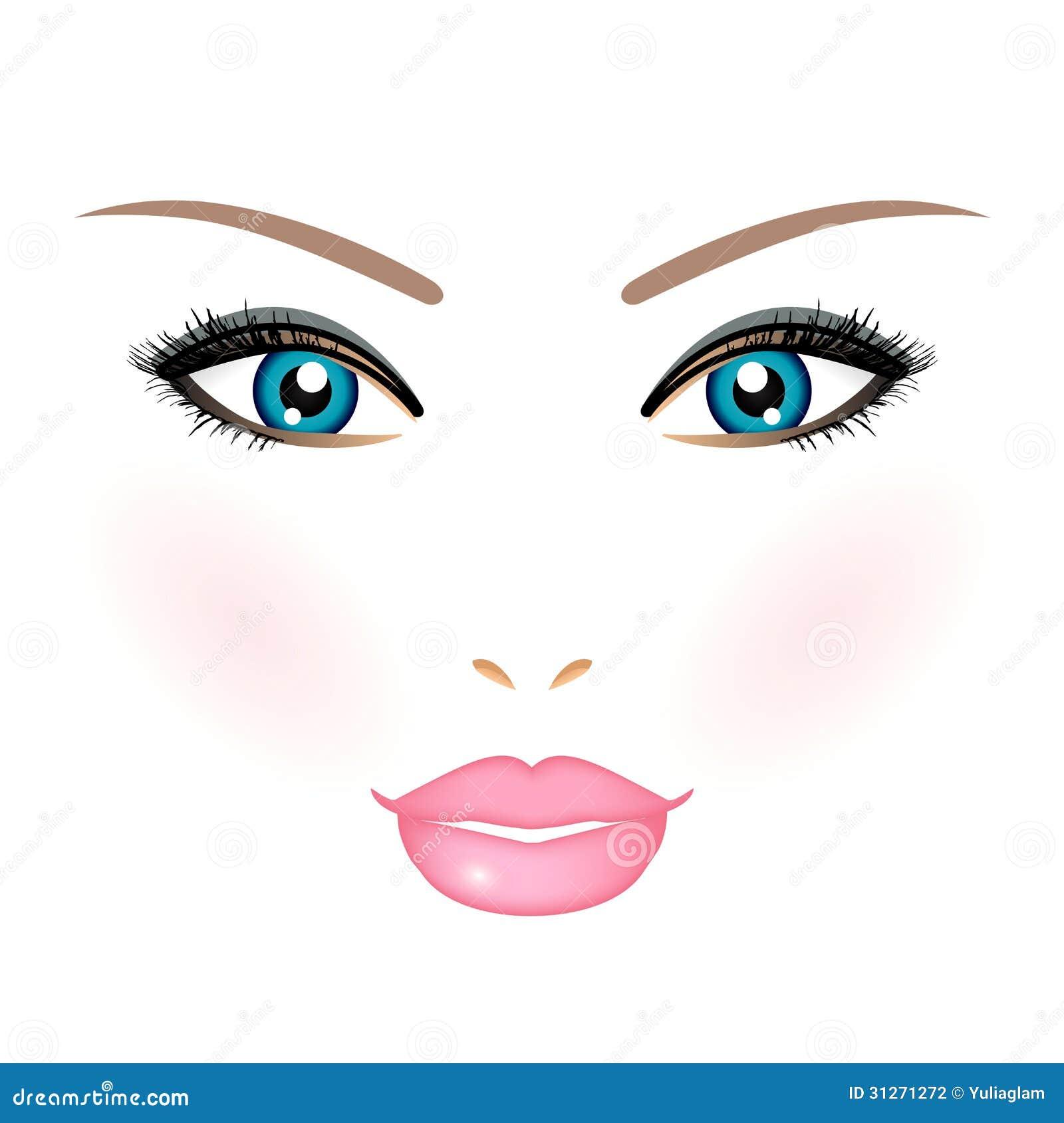 Woman Face Stock Vector. Illustration Of Artist, Eyelashes