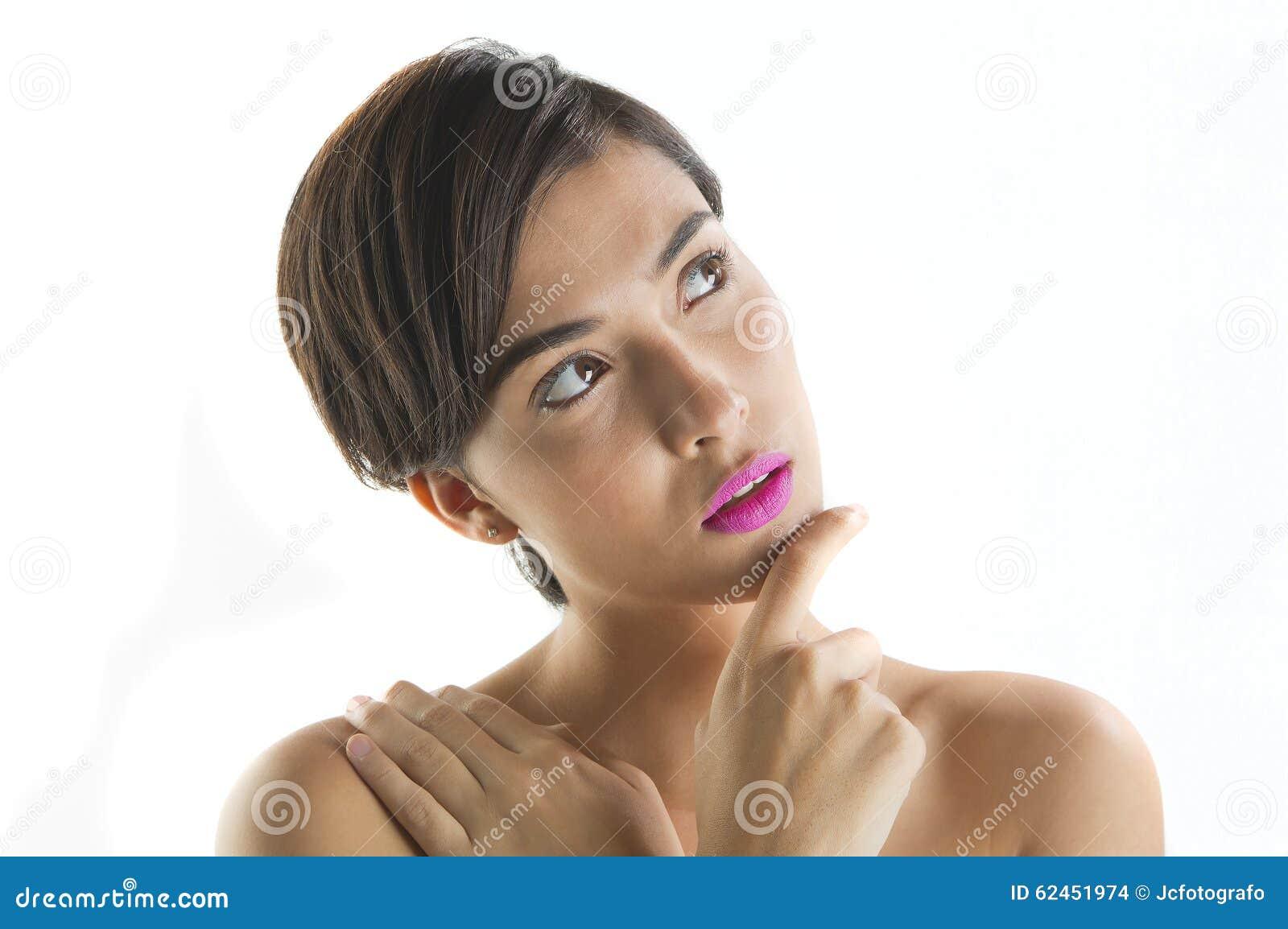 Burrnett short hair naked