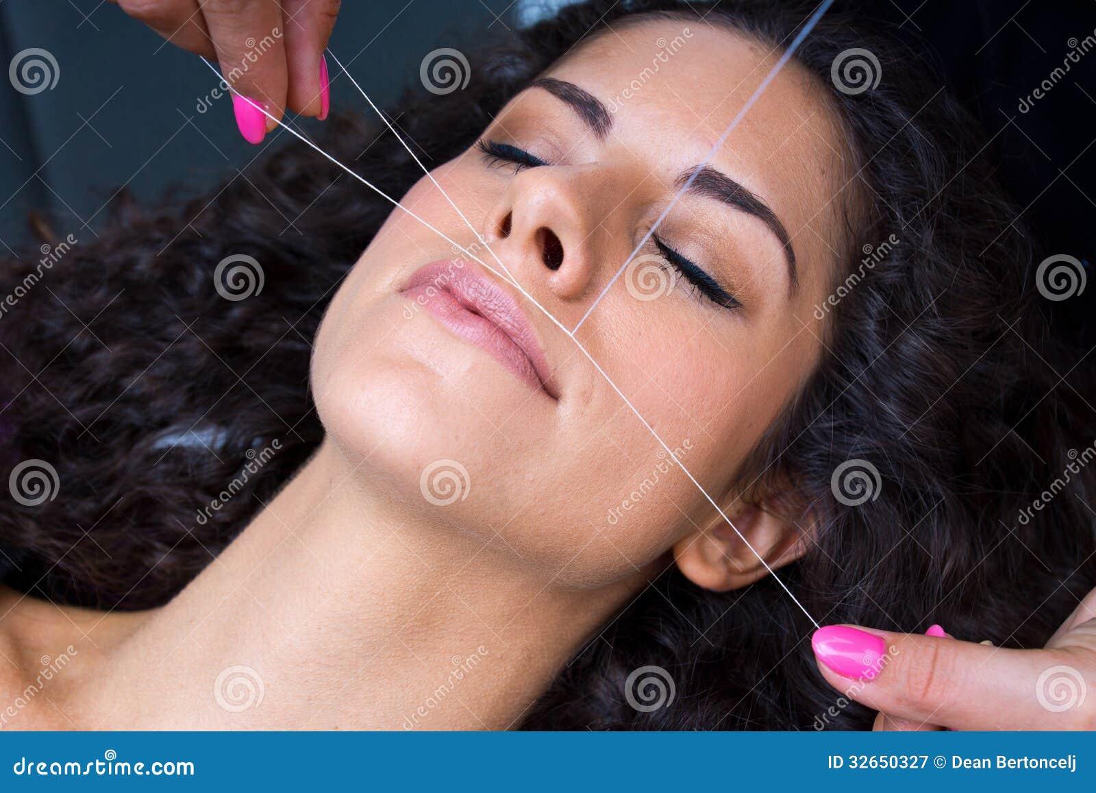 Threading and facial hair