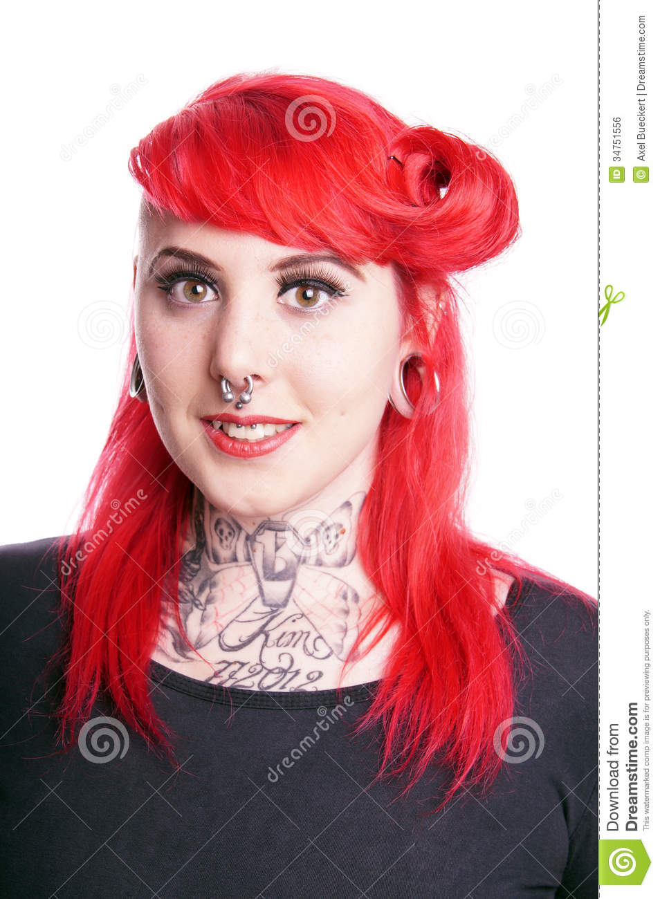 Woman With Facial Piercings Stock Photo Image 34751556