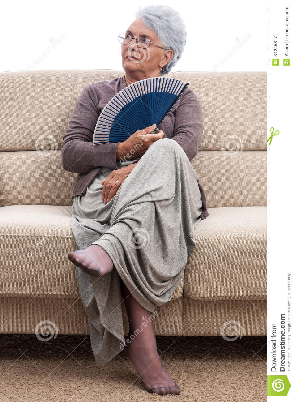 Woman With Fan Stock Image Image Of Female Person