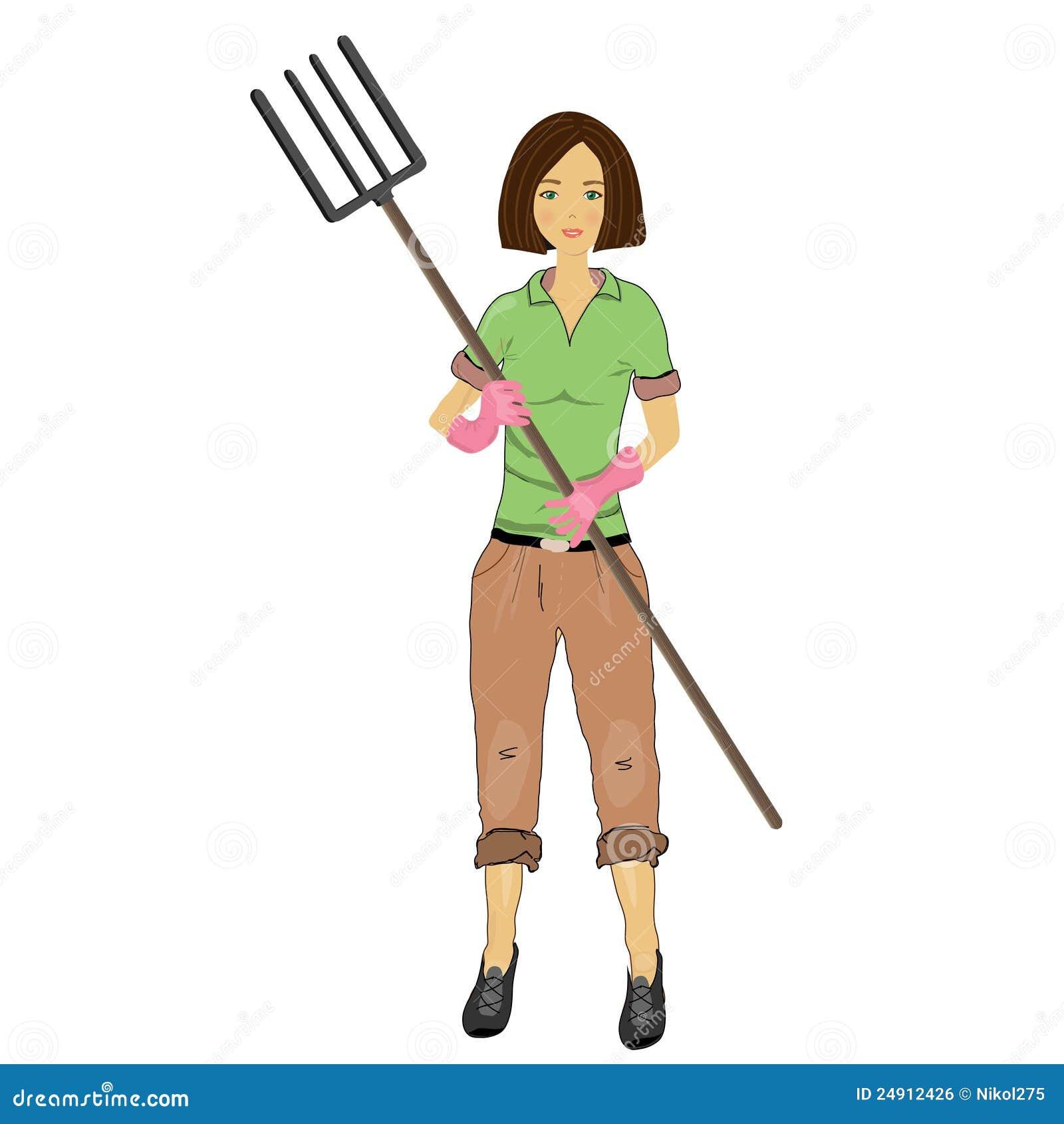 Woman Farmer With A Pi...