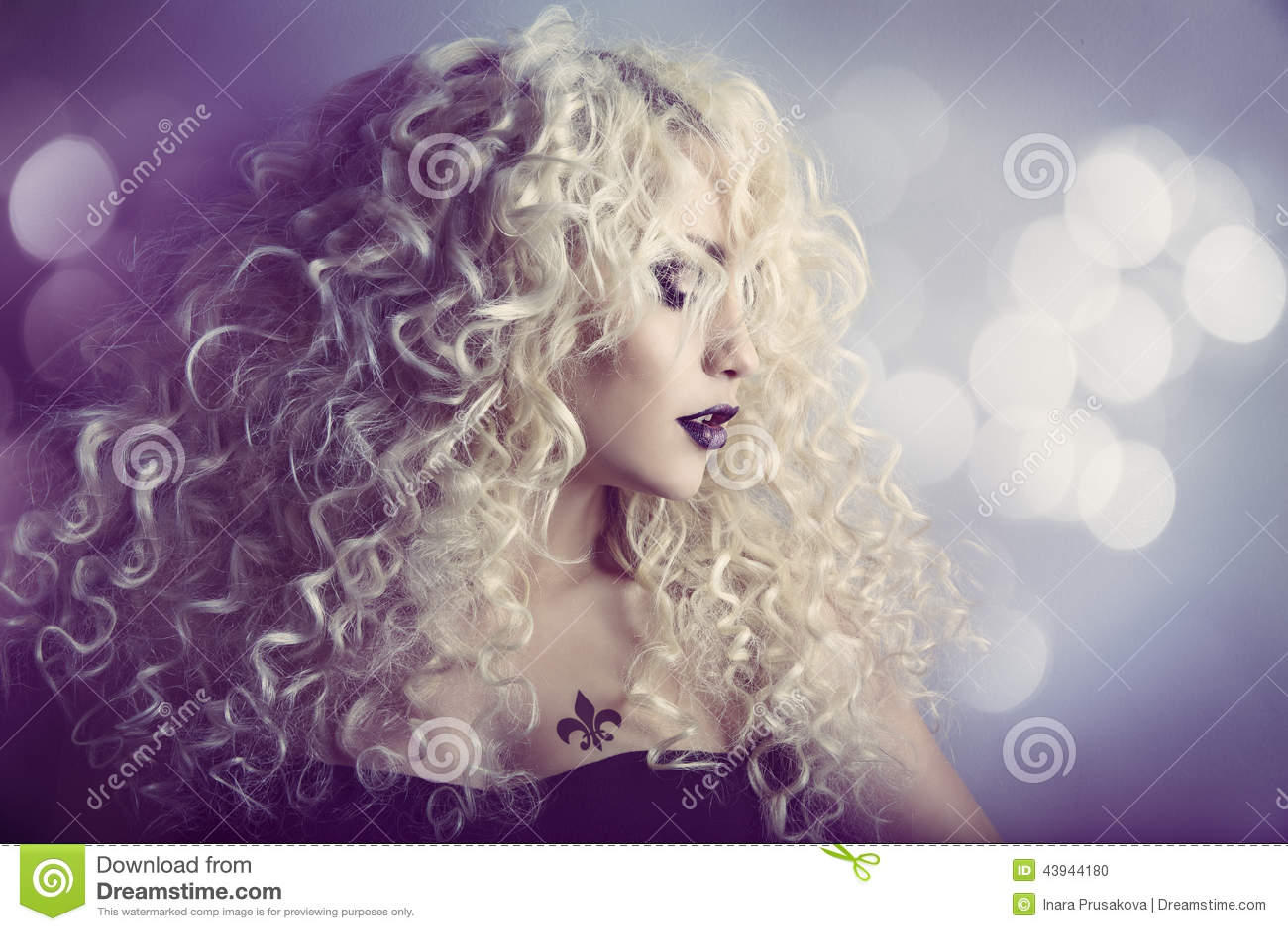 Woman Fashion Beauty Portrait, Model Girl Hairstyle, Blond