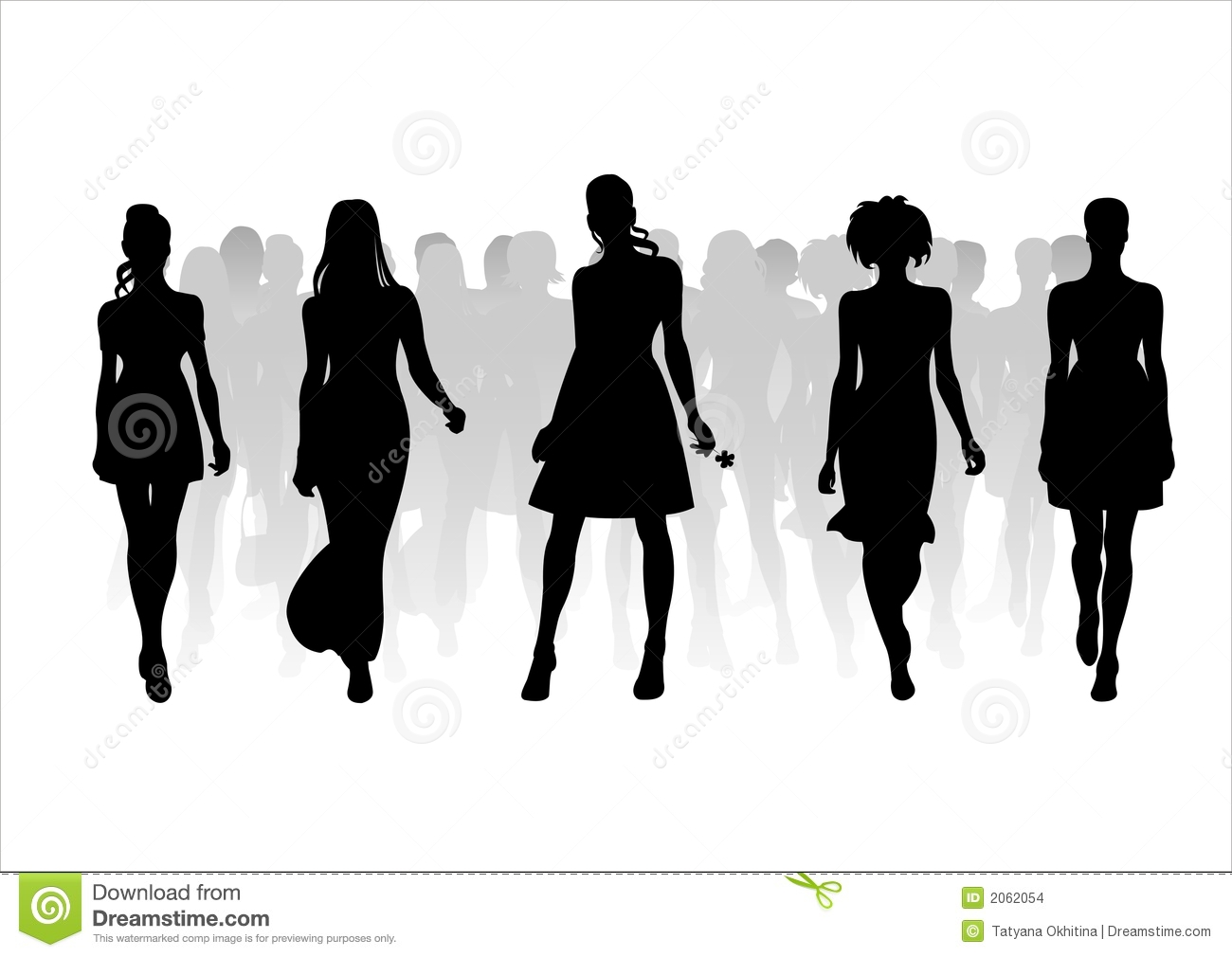 Woman Of Fashion Silhouettes - 10 Stock Images - Image ...