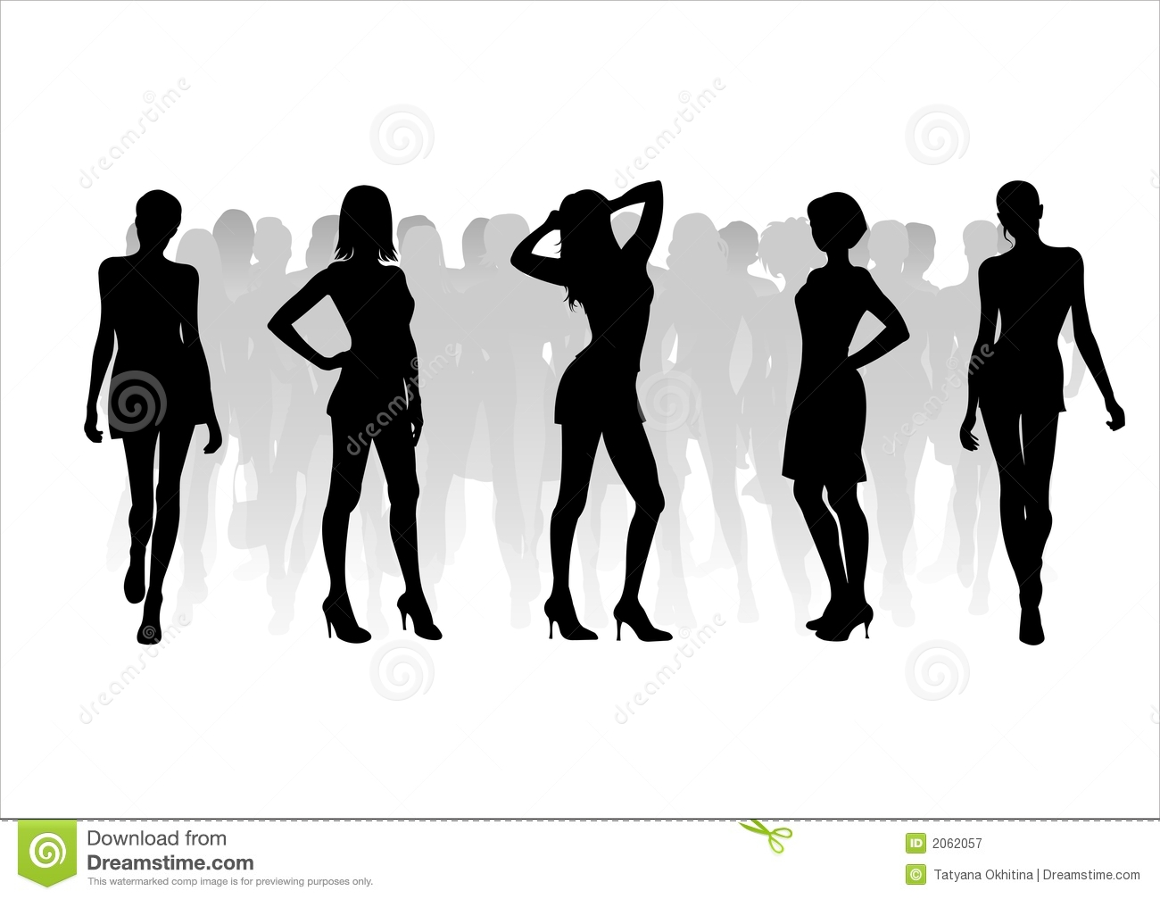 Woman Of Fashion Silhouettes - 11 Royalty Free Stock ...