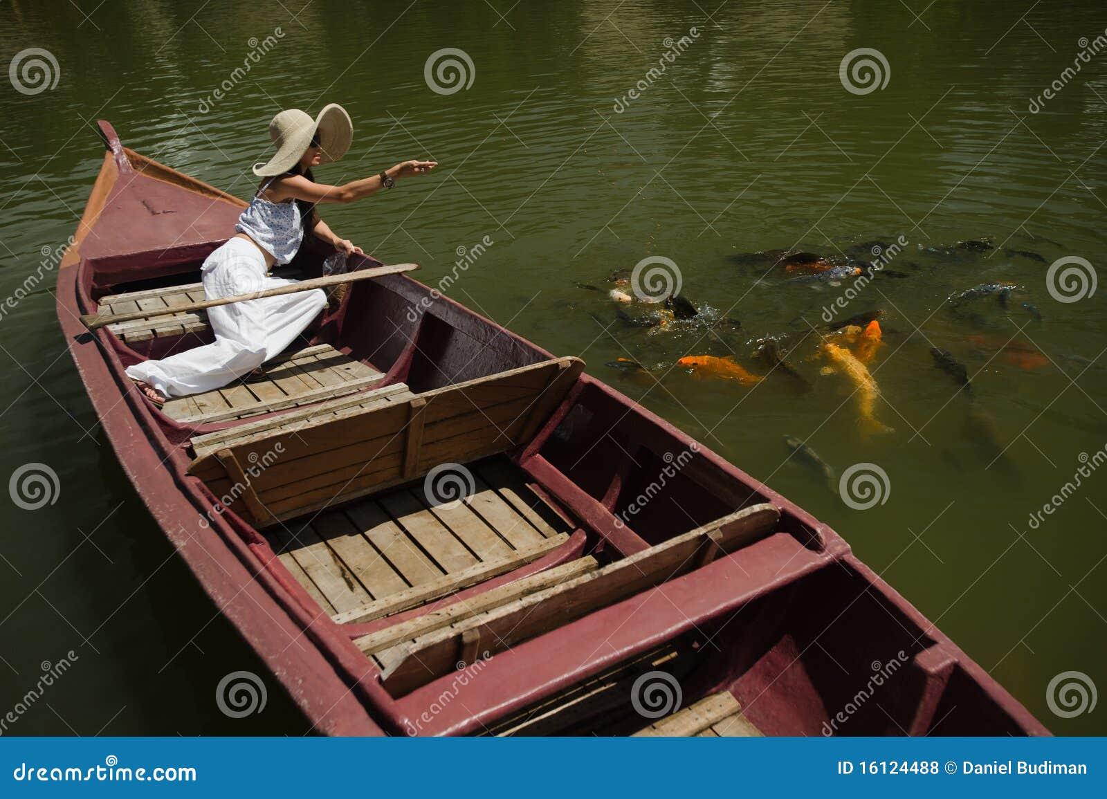 Pond with goldfish vector illustration for Pond dealers