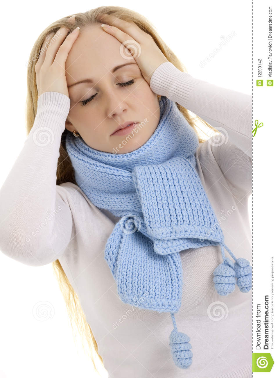 More similar stock images of woman feeling sick
